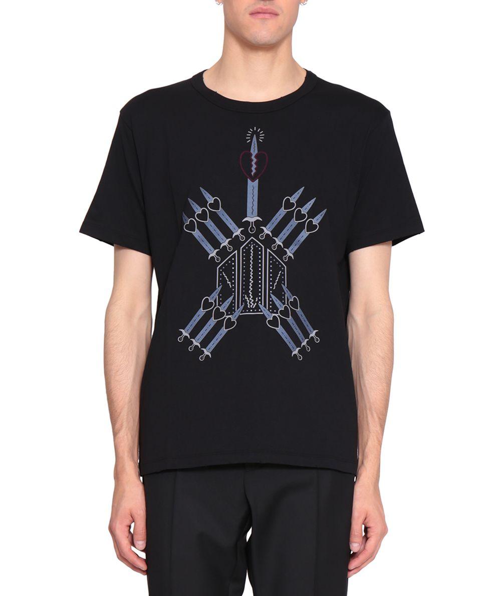 Valentino Love Blade Cotton T-shirt 8965209