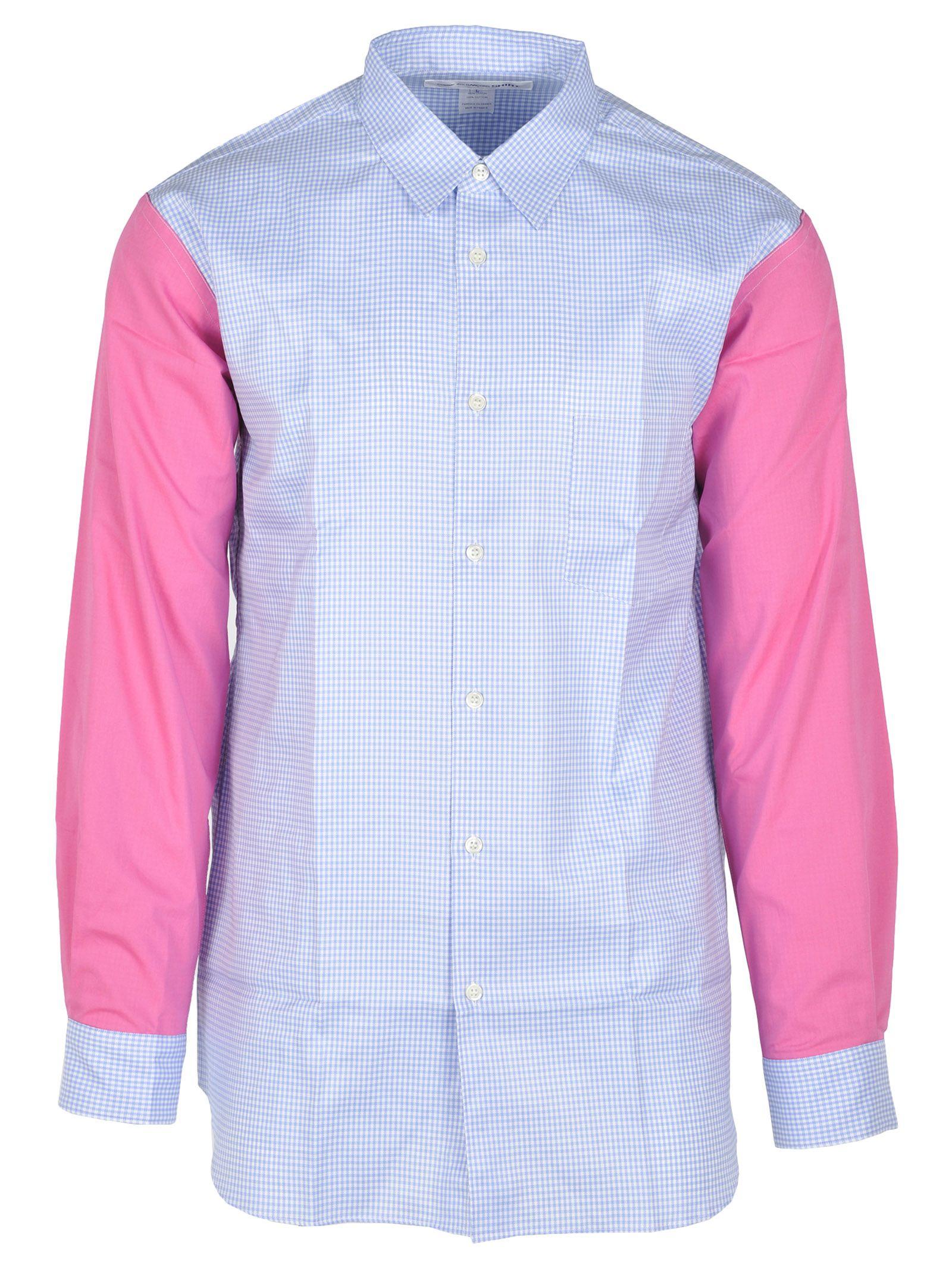 COMME DES GARÇONS BOYS Comme Des Garçons Boy Shirt Vichy in Light Blue + Pink