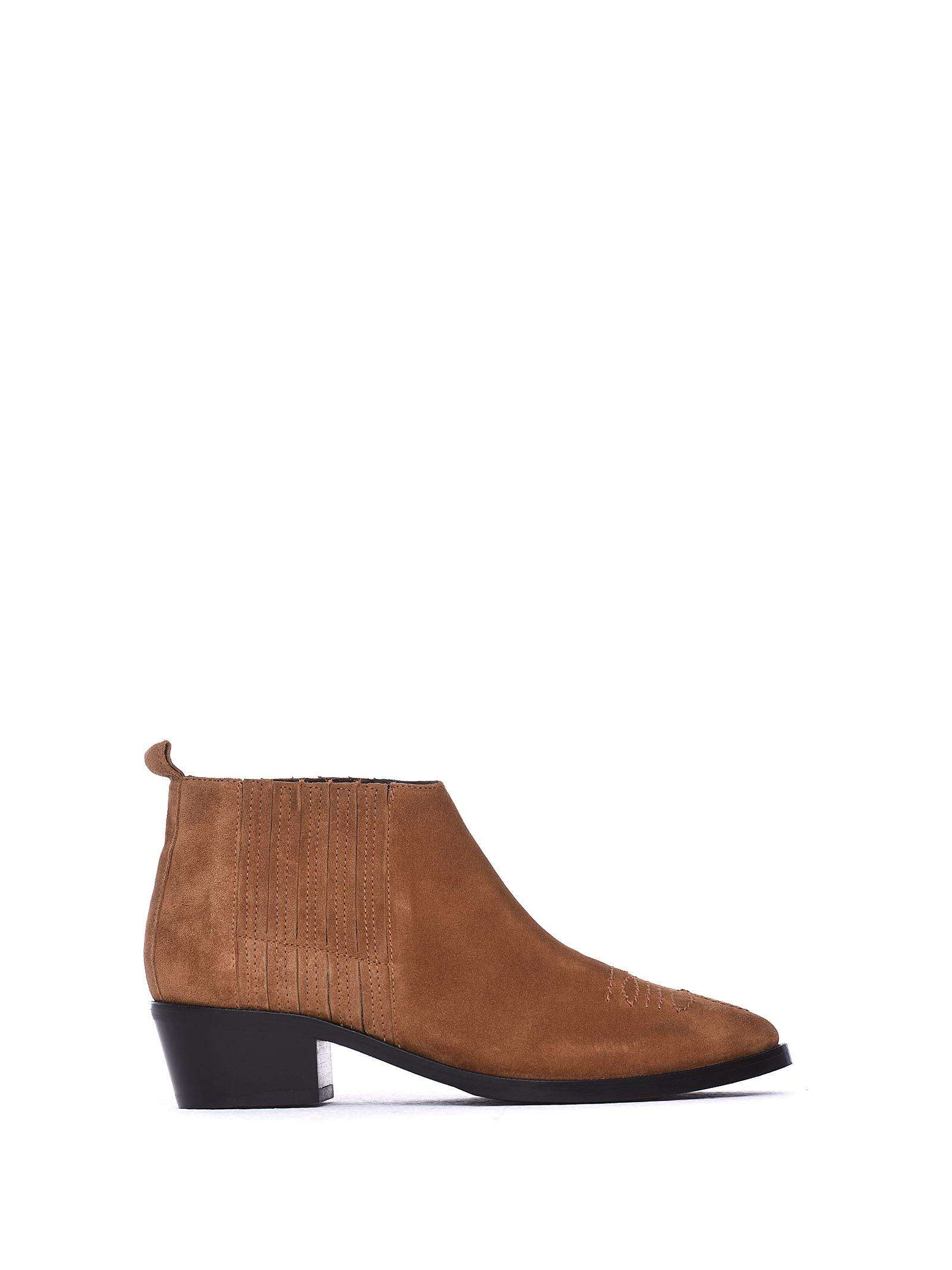 JANET&JANET Brown Ankle Boots in Cuoio