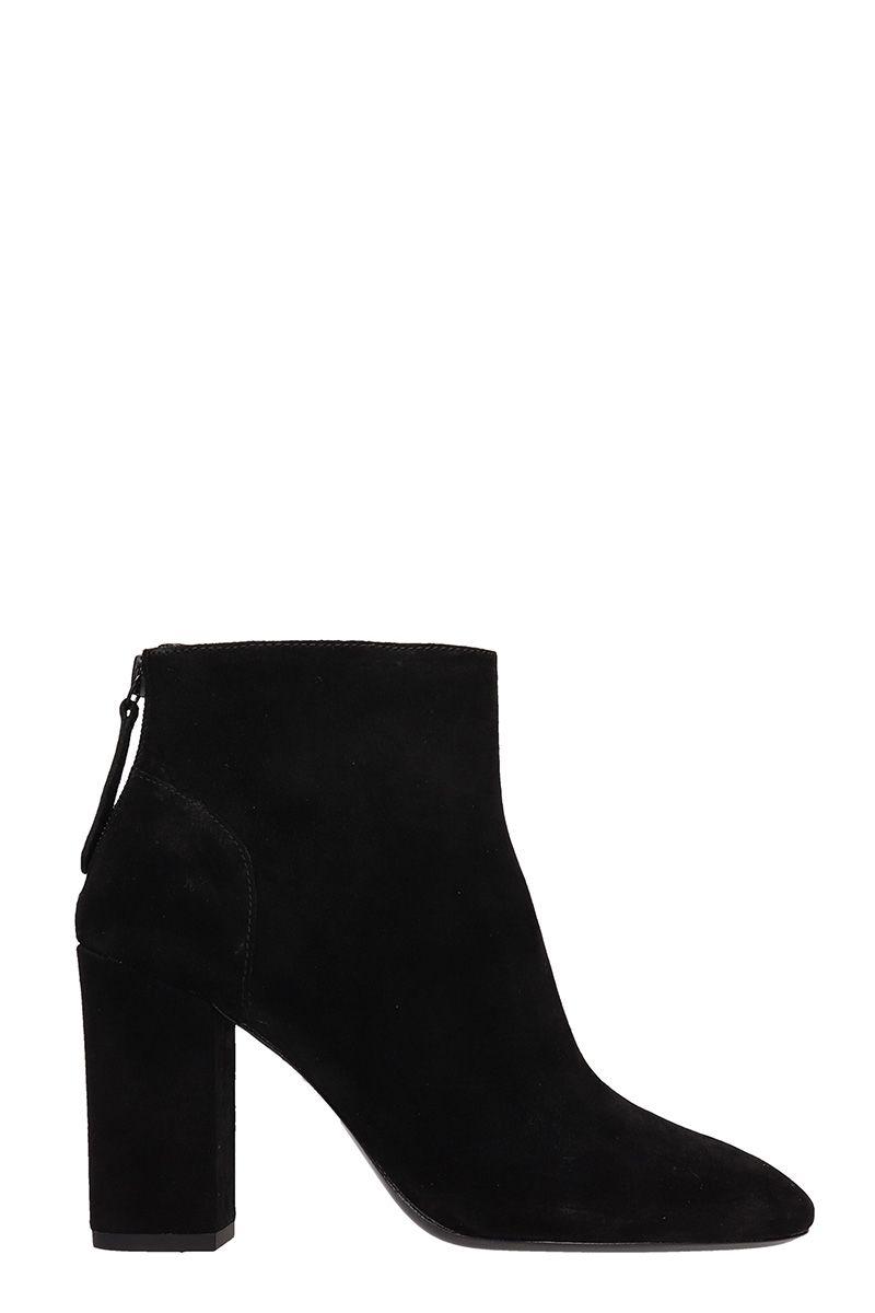 Ash Joy Balck Suede Ankle Boots