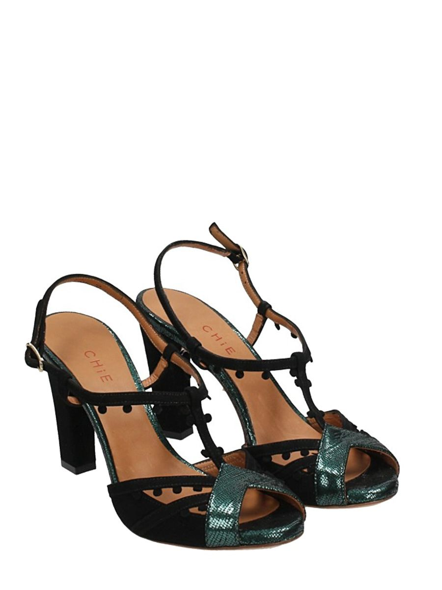 Chie Mihara Dedra Green And Suede Leather Sandals Cheap Sale Big Discount Buy Cheap Fast Delivery Cheap Sale Browse Discount Nicekicks Cheap Sale Largest Supplier Tmwf3d