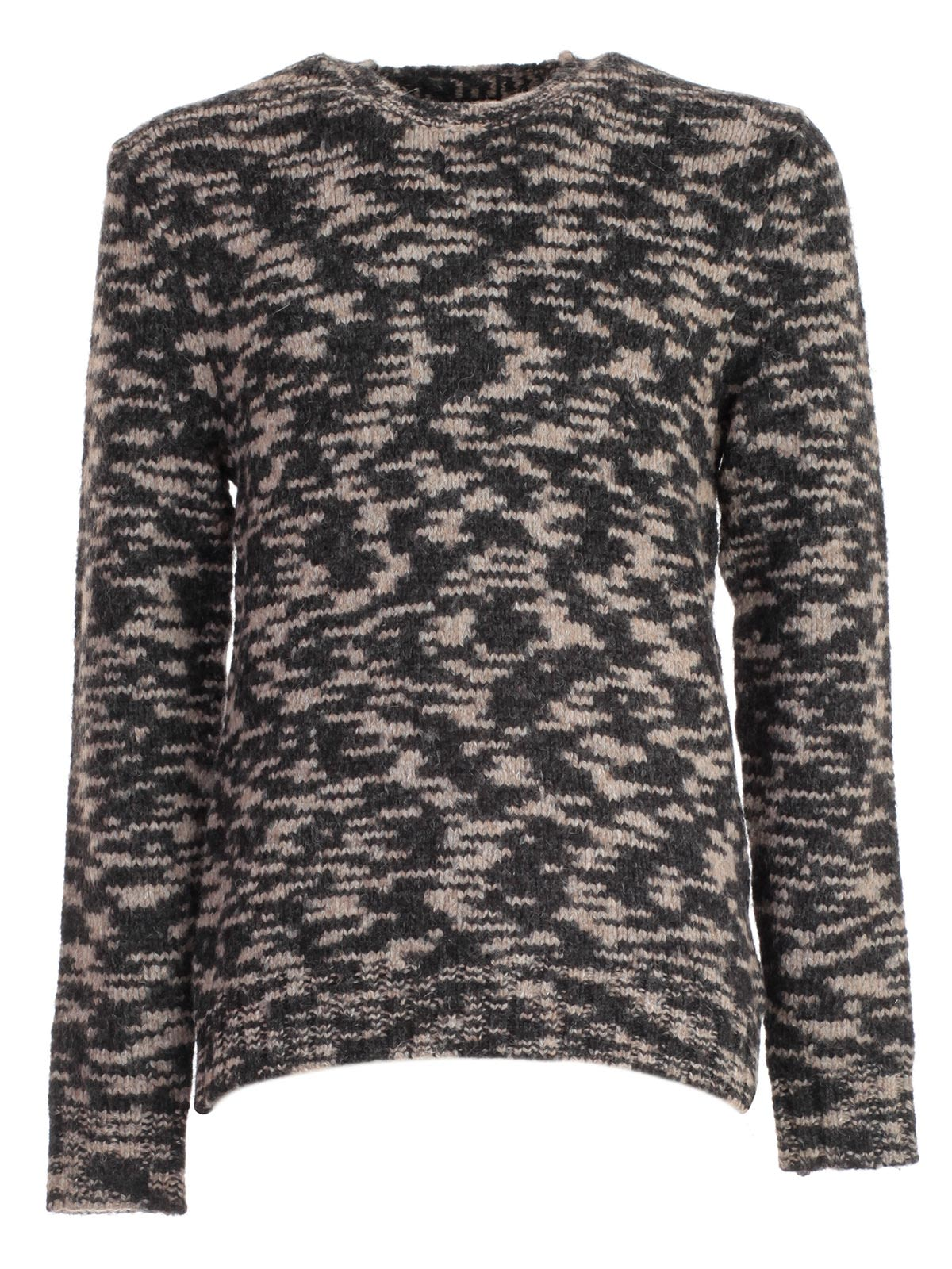 WOOLRICH Camouflage Jumper in Grey
