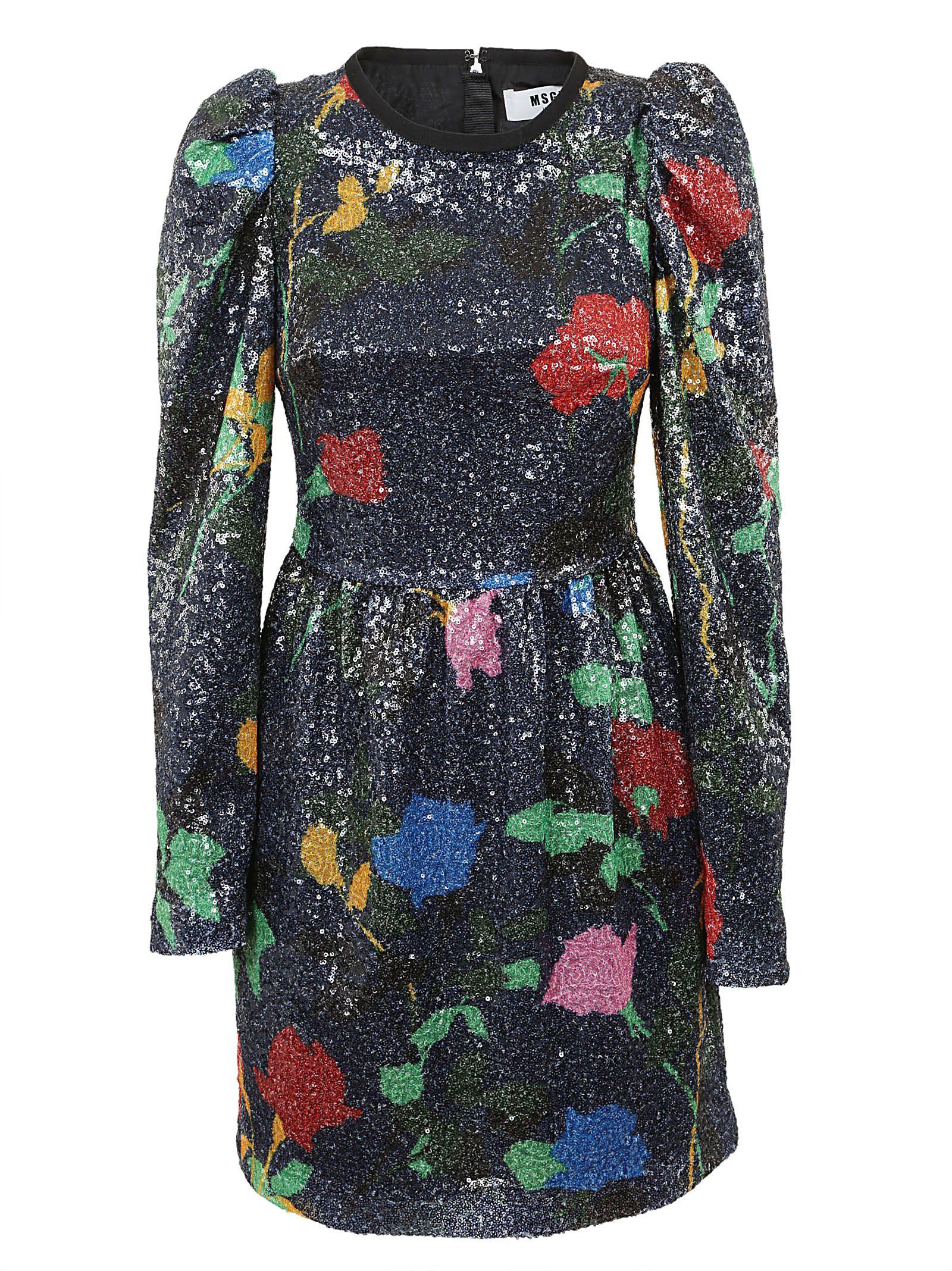 Msgm Glitter Dress 10696322