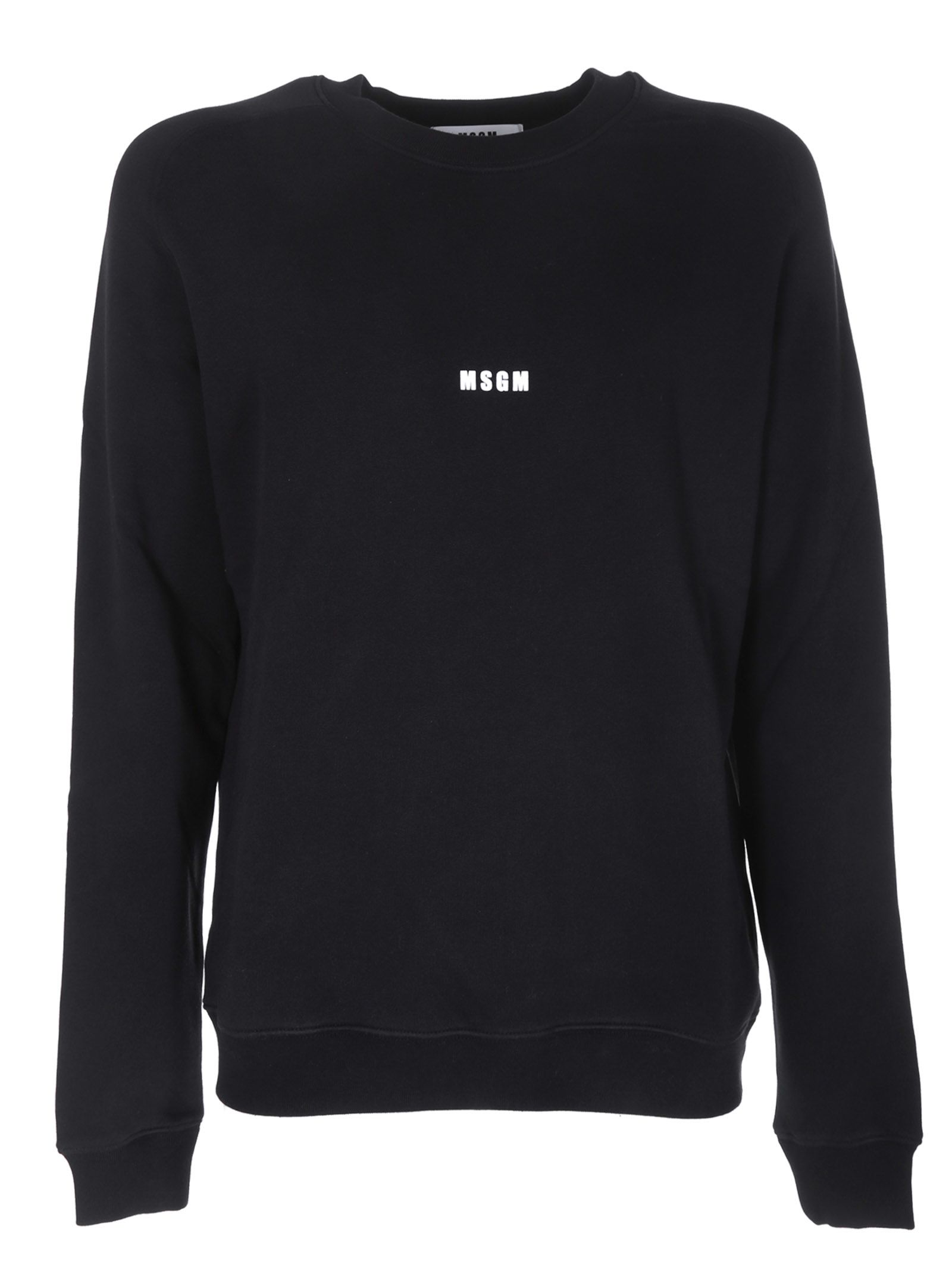 Msgm Front Logo Print Sweatshirt