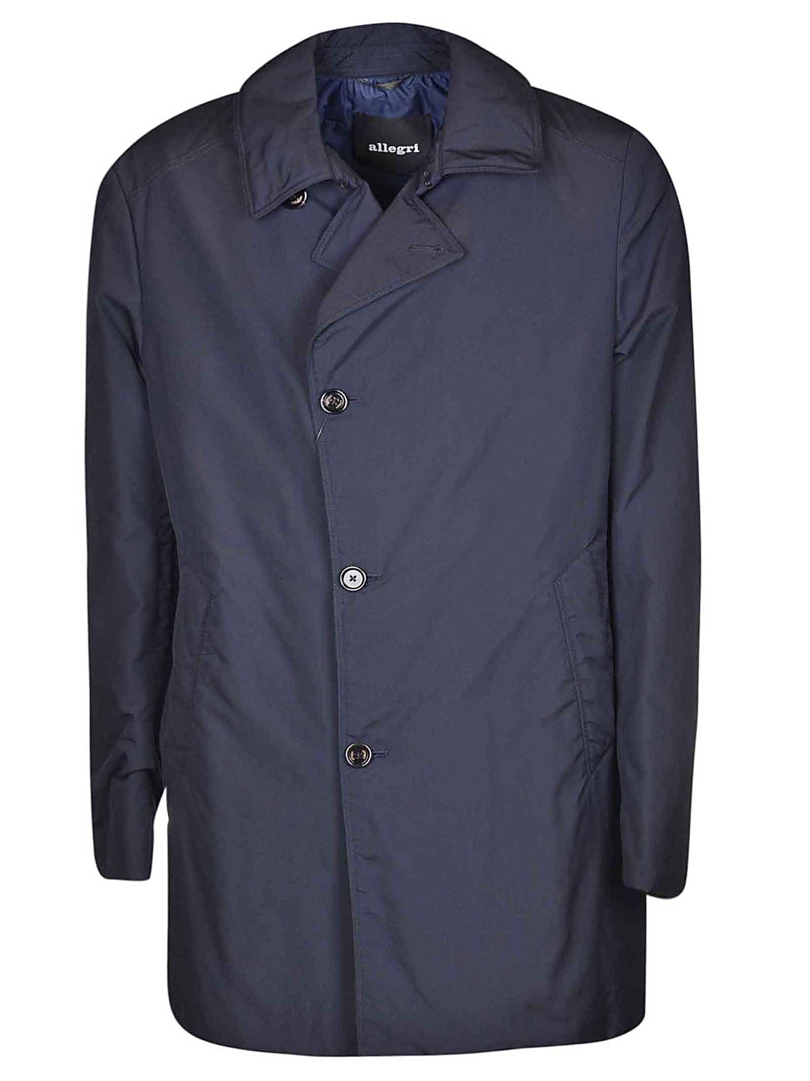ALLEGRI Single Breasted Coat in Blue