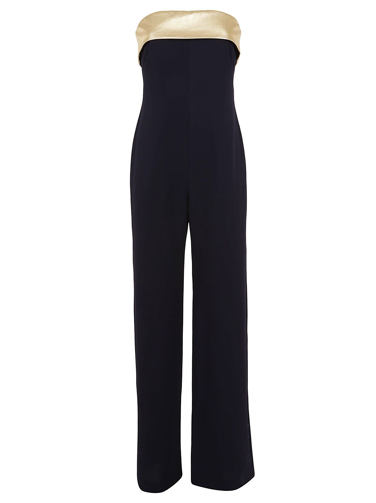 Francesca Crepe Cady Strapless Jumpsuit in Midnight