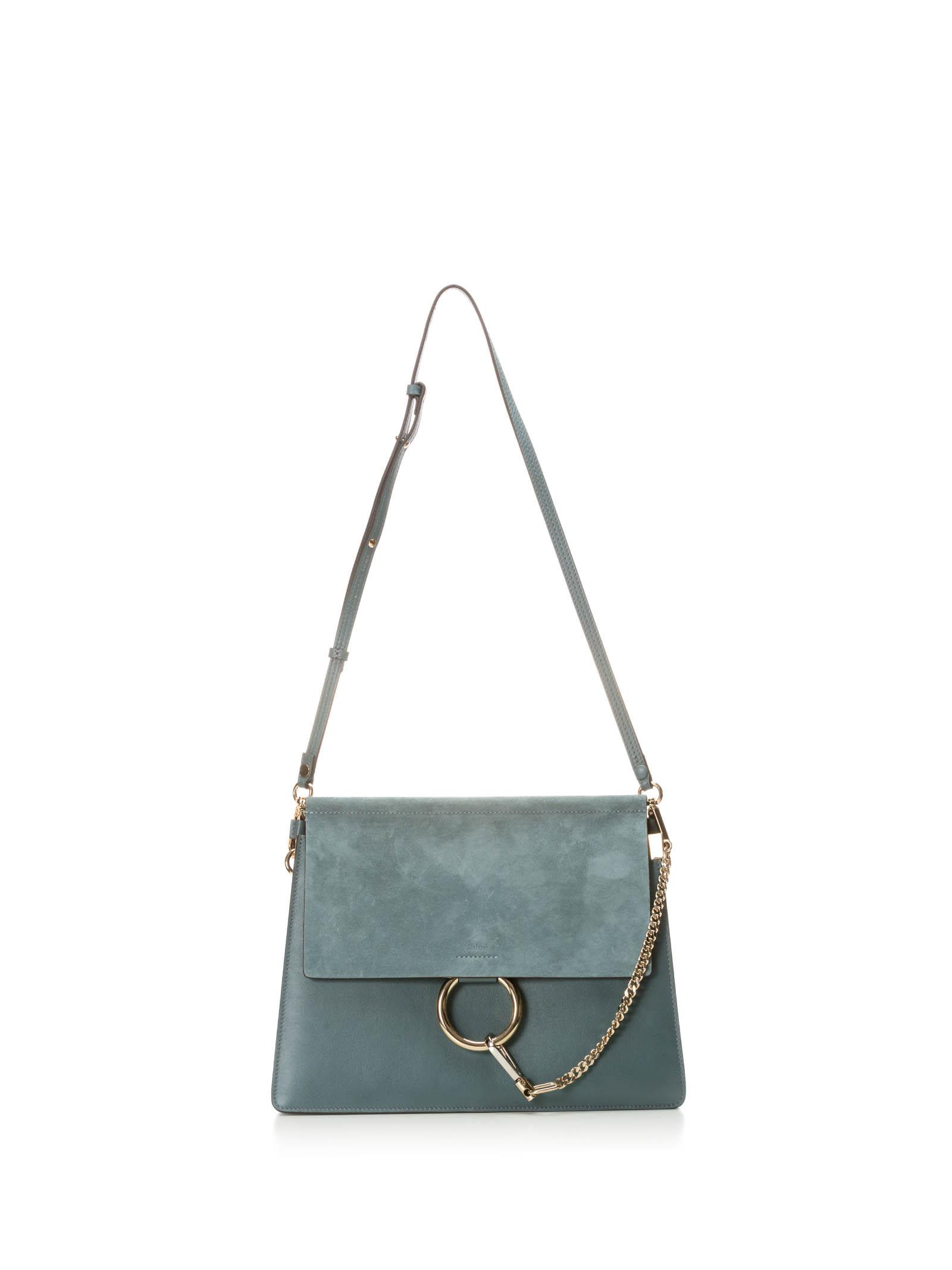 CHLOÉ CHLOE LIGHT BLUE FAYE SHOULDER BAG