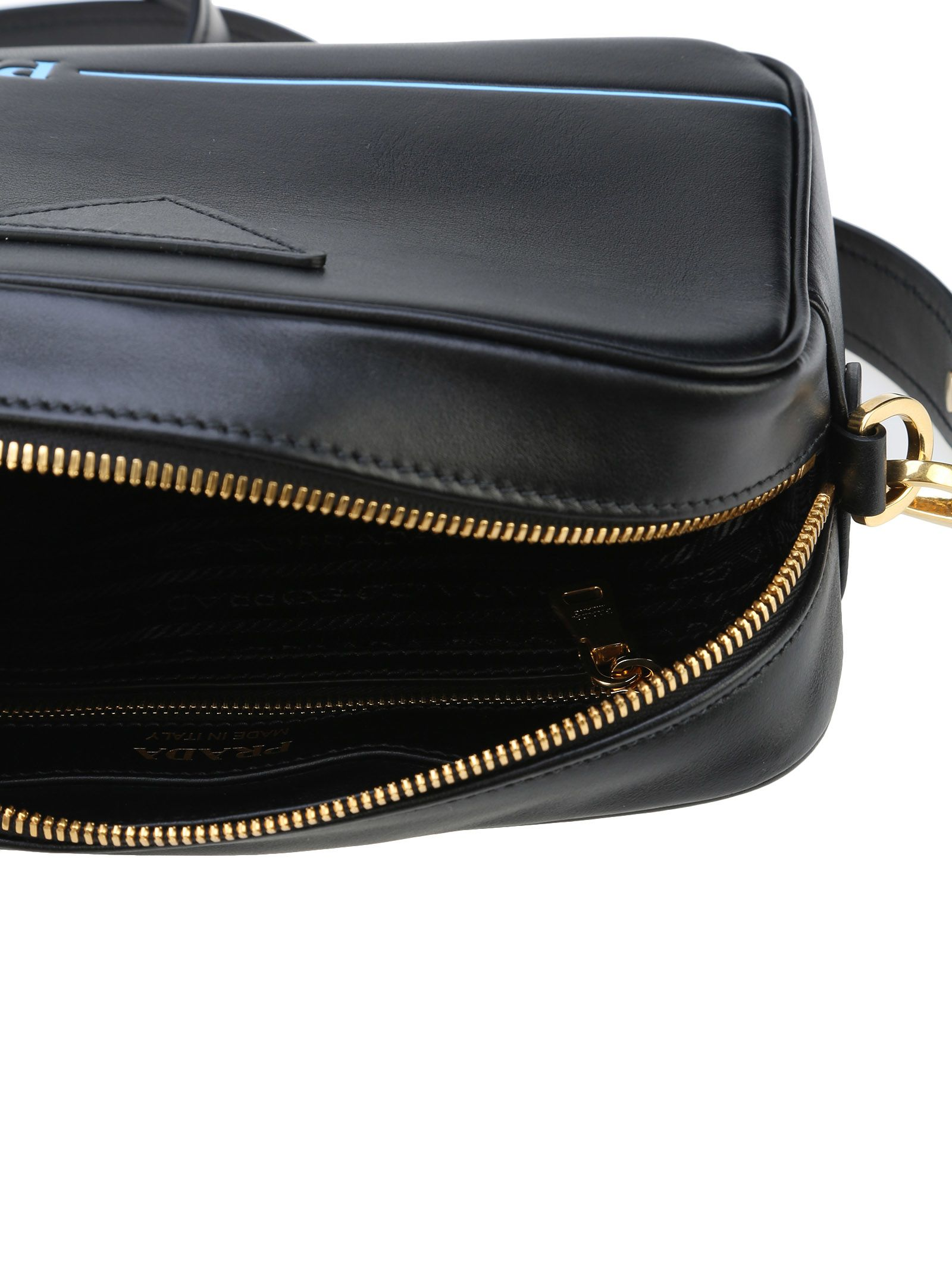 6e87ec2aeda425 Lyst - Prada Cahier Leather Shoulder Bag in Natural italist | Best price in  the market for Prada Prada Mirage Camera Bag - BLACK -