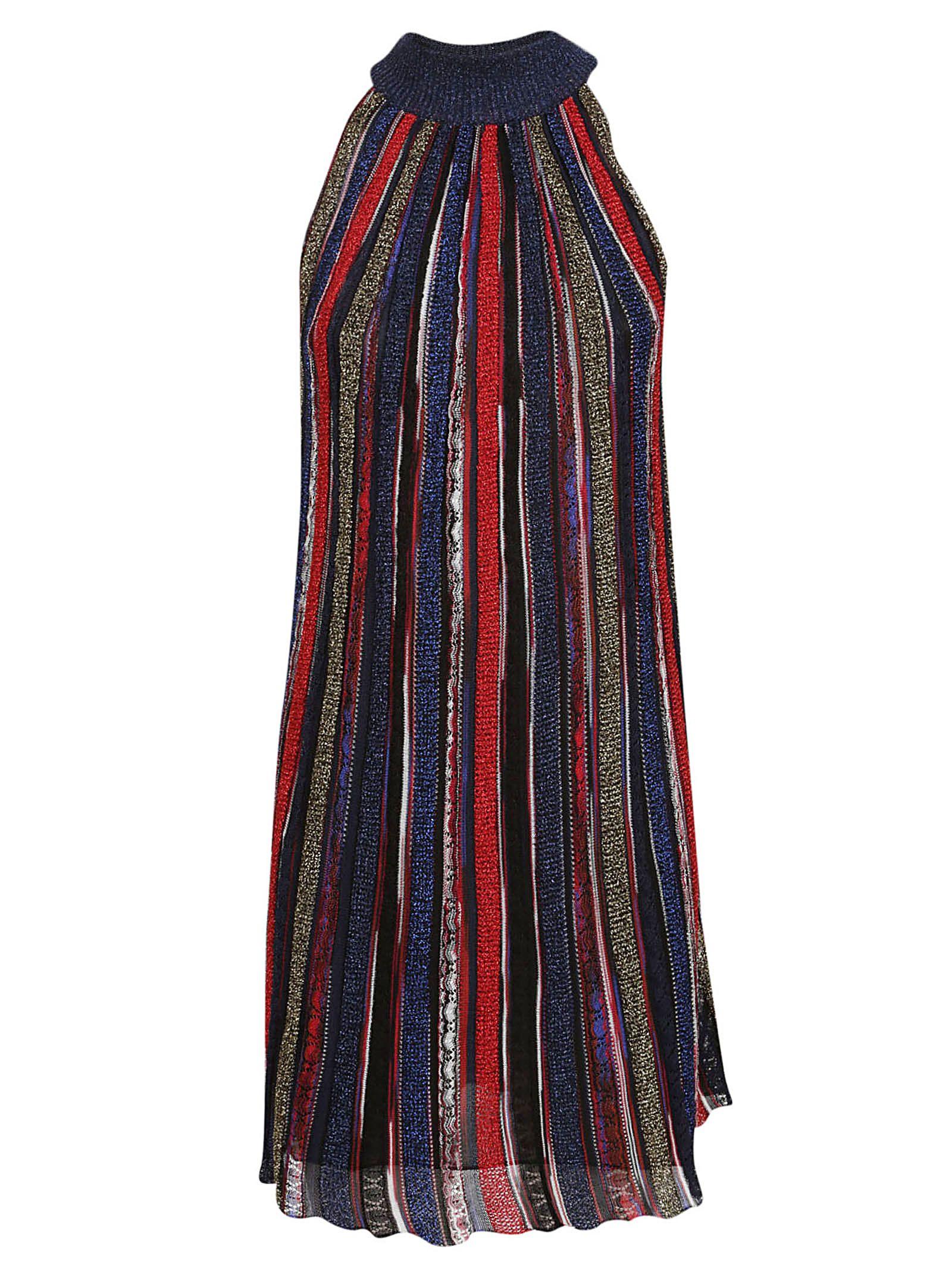 Missoni Lurex Striped Sleeveless Mini Dress