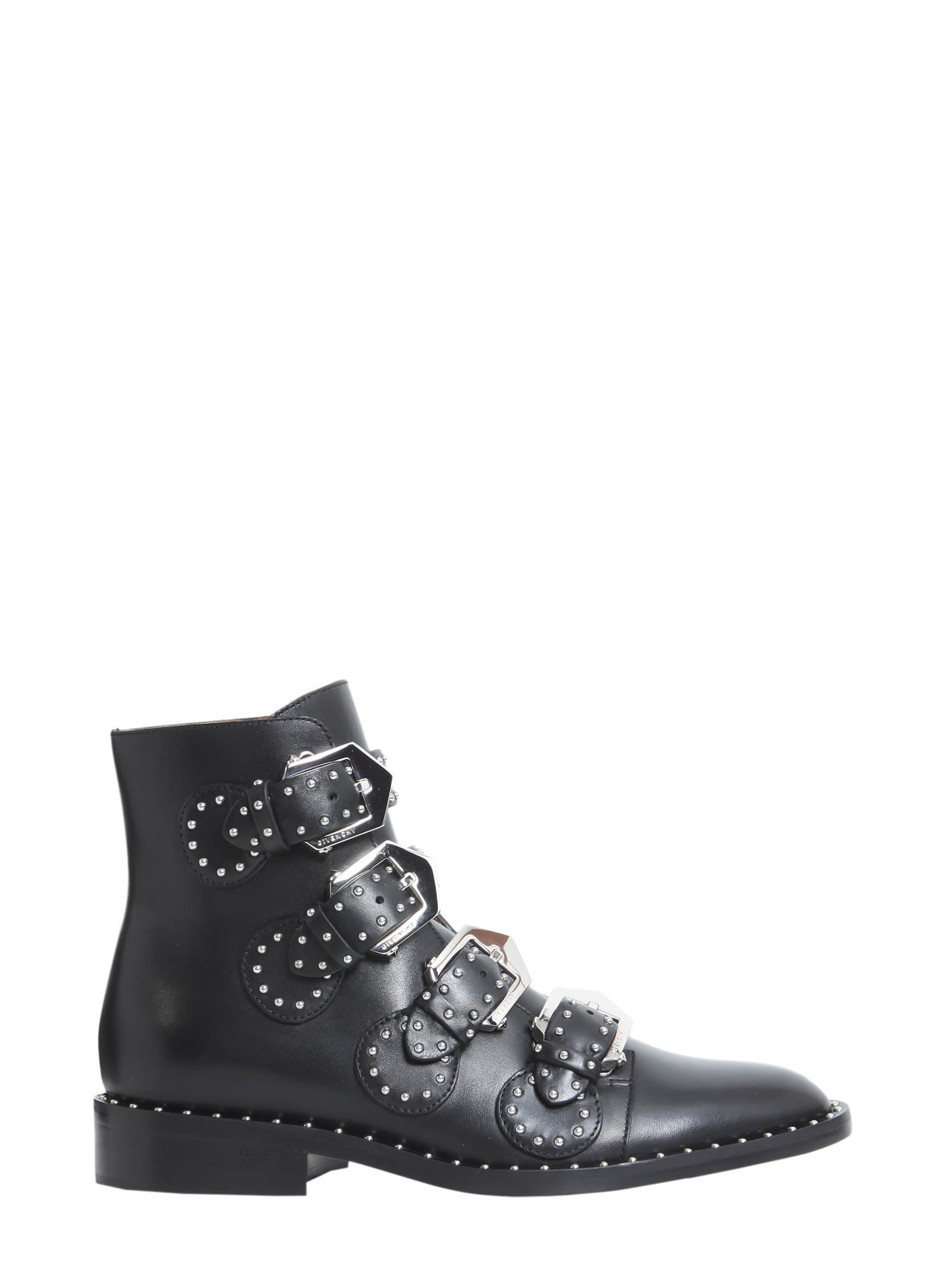 Givenchy Elegant Studs Flat Ankle Boots Nero Women S