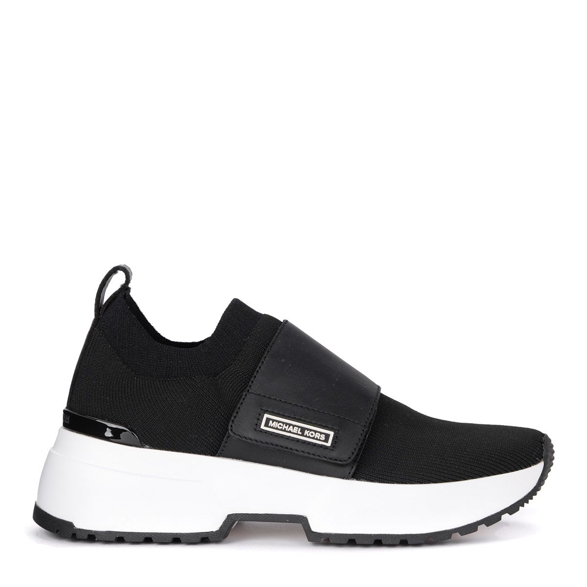 Cosmo Knit Slip-On Sneakers in Nero