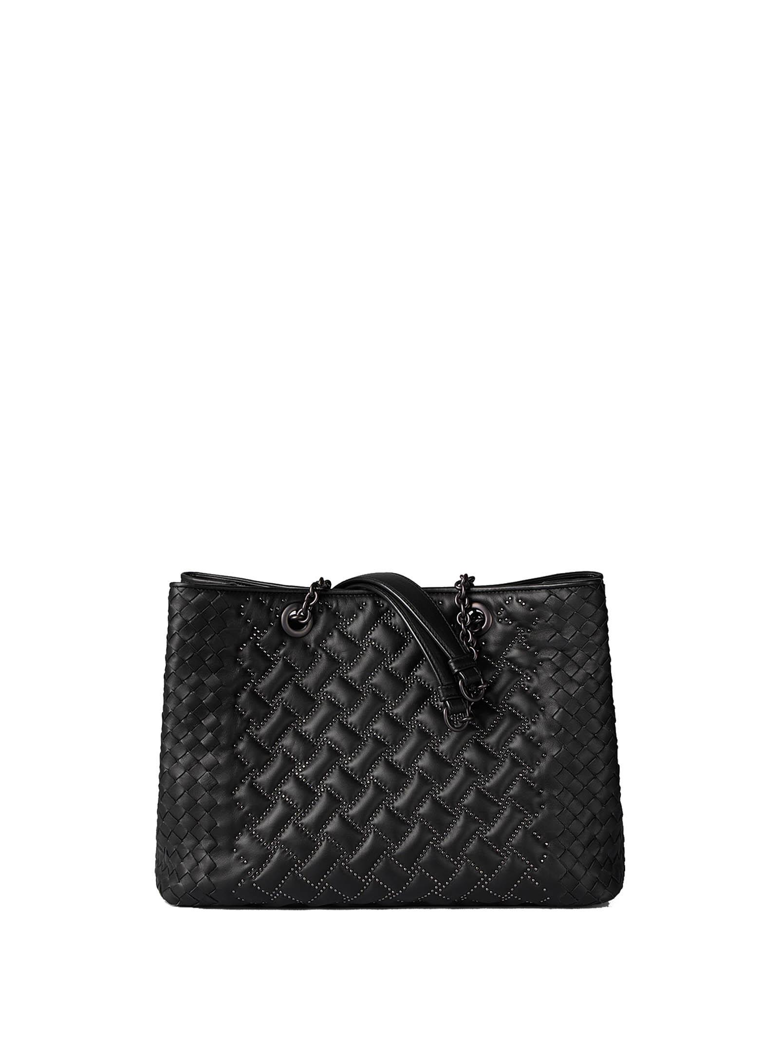 Shopper Bag With Studs in Nero