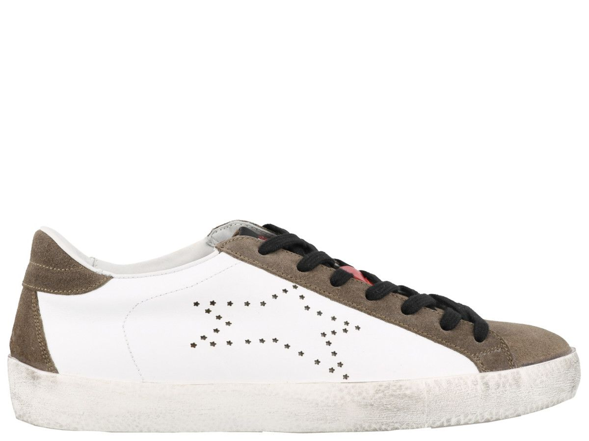 ISHIKAWA Sneakers in White Taupe