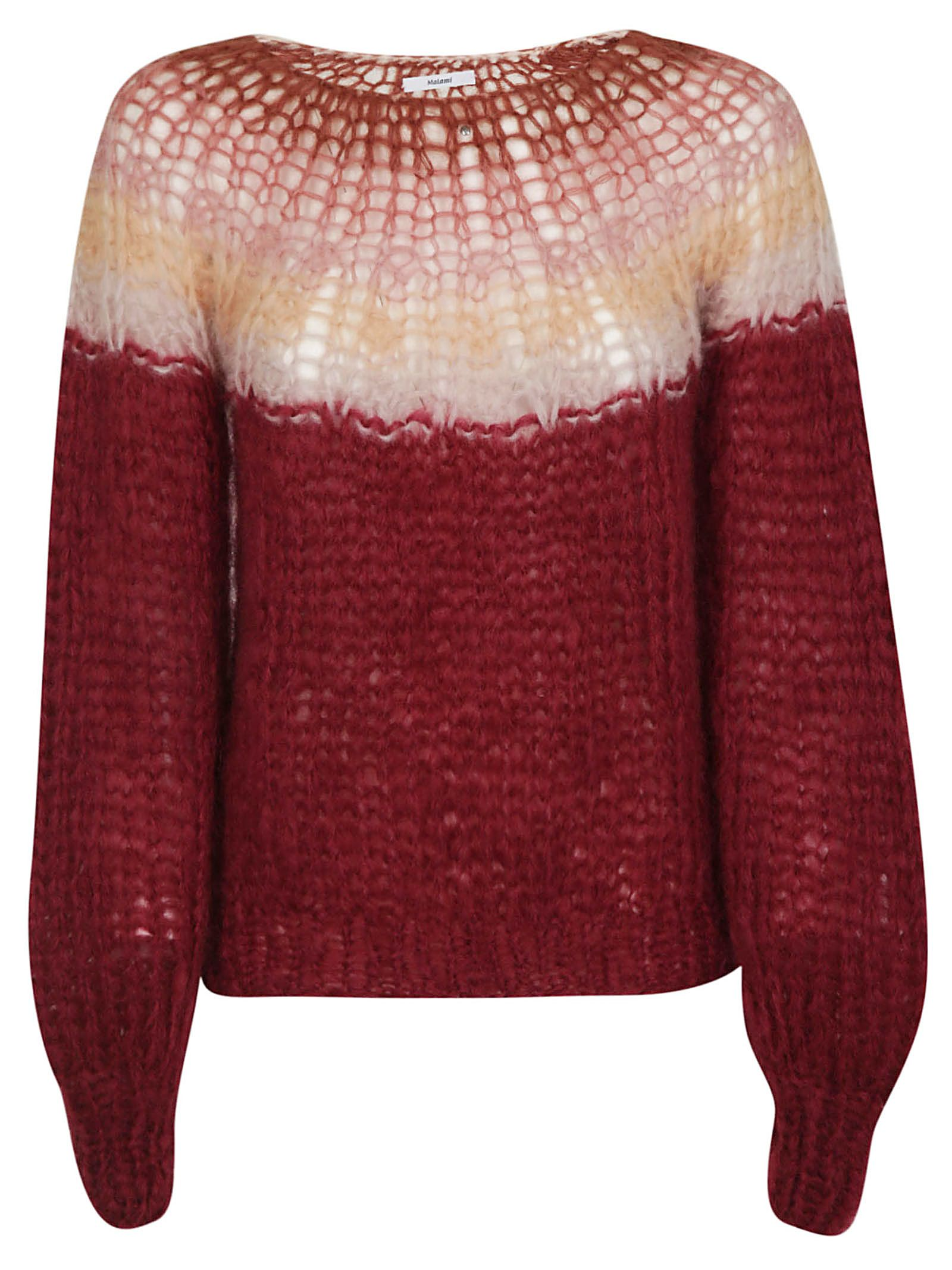 MAIAMI Maiami Knitted Sweater in Vino