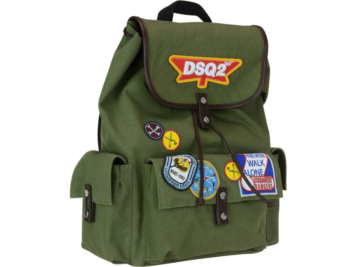 e964a5c740c1 Dsquared2 Bad Scout Military Trimmed Backpack Dsquared2 Bad Scout Military  Trimmed Backpack ...