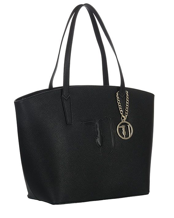 Tote Bag On Sale, Black, Leather, 2017, one size Trussardi