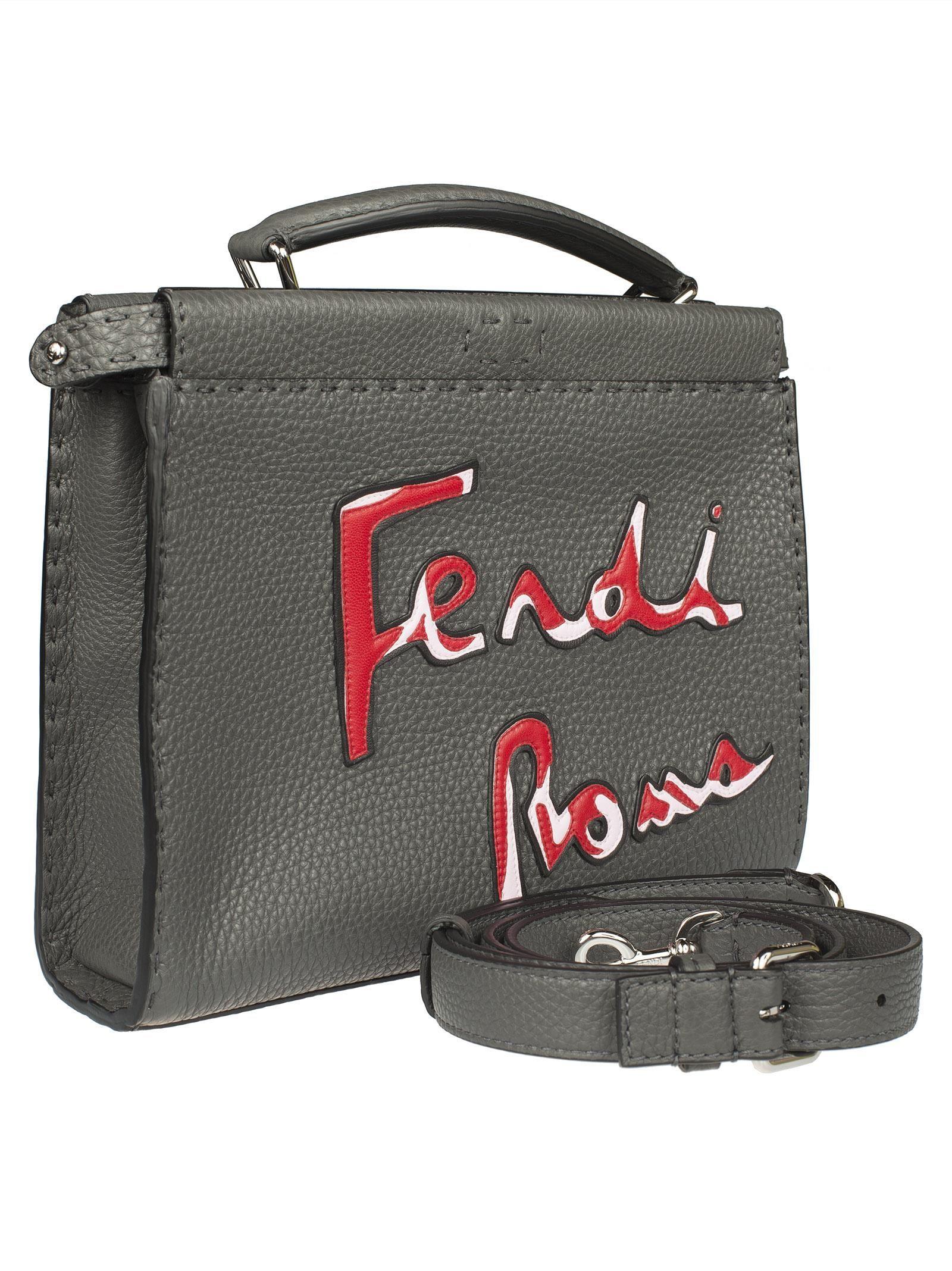 Fendi Logo Imprimé Fourre-tout - Gris Magasin Discount EAPRu60dEm
