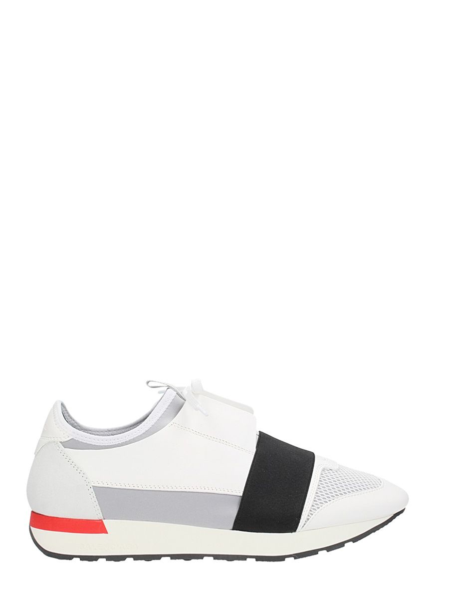 BALENCIAGA RUNNING RACE WHITE FABRIC SNEAKERS