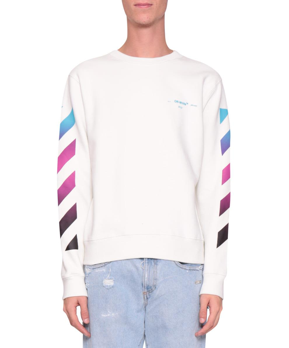 Off-White Daigonal Gradient Cotton Sweatshirt