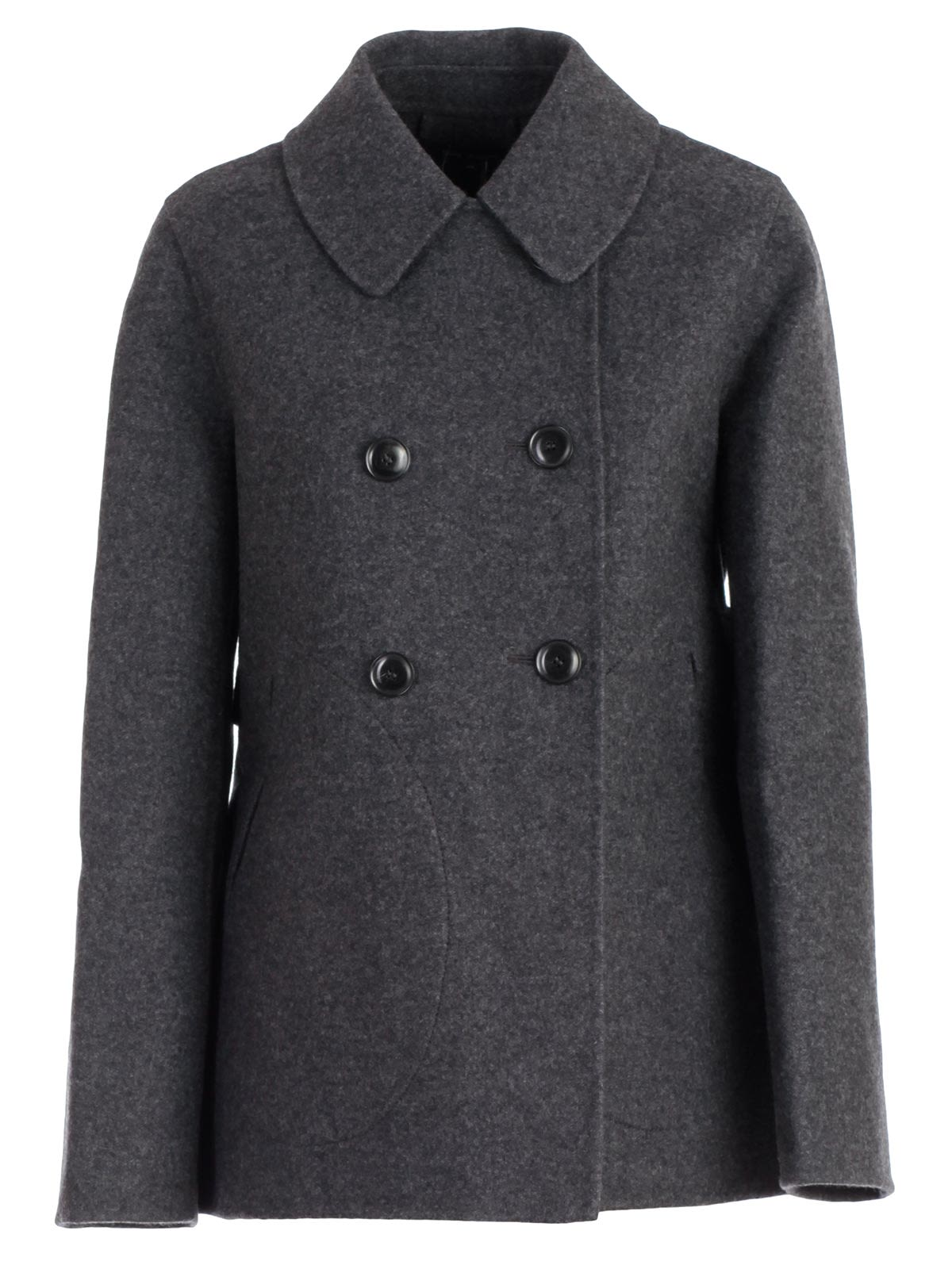 SOFIE D'HOORE Sofie D'Hoore Double-Breasted Pea Coat in Charcoal