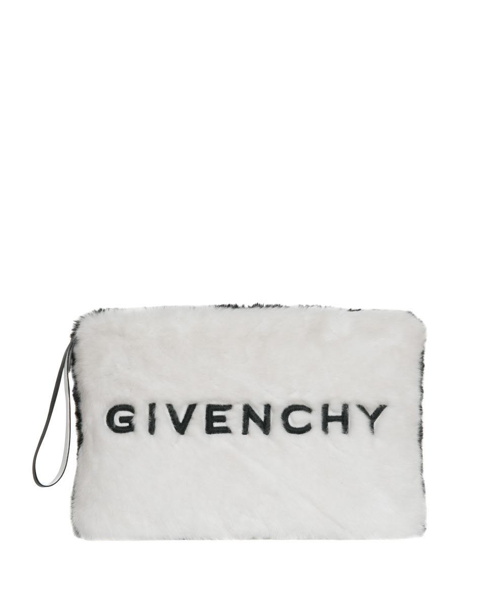 Givenchy Pouches FAUX-FUR LOGO POUCH