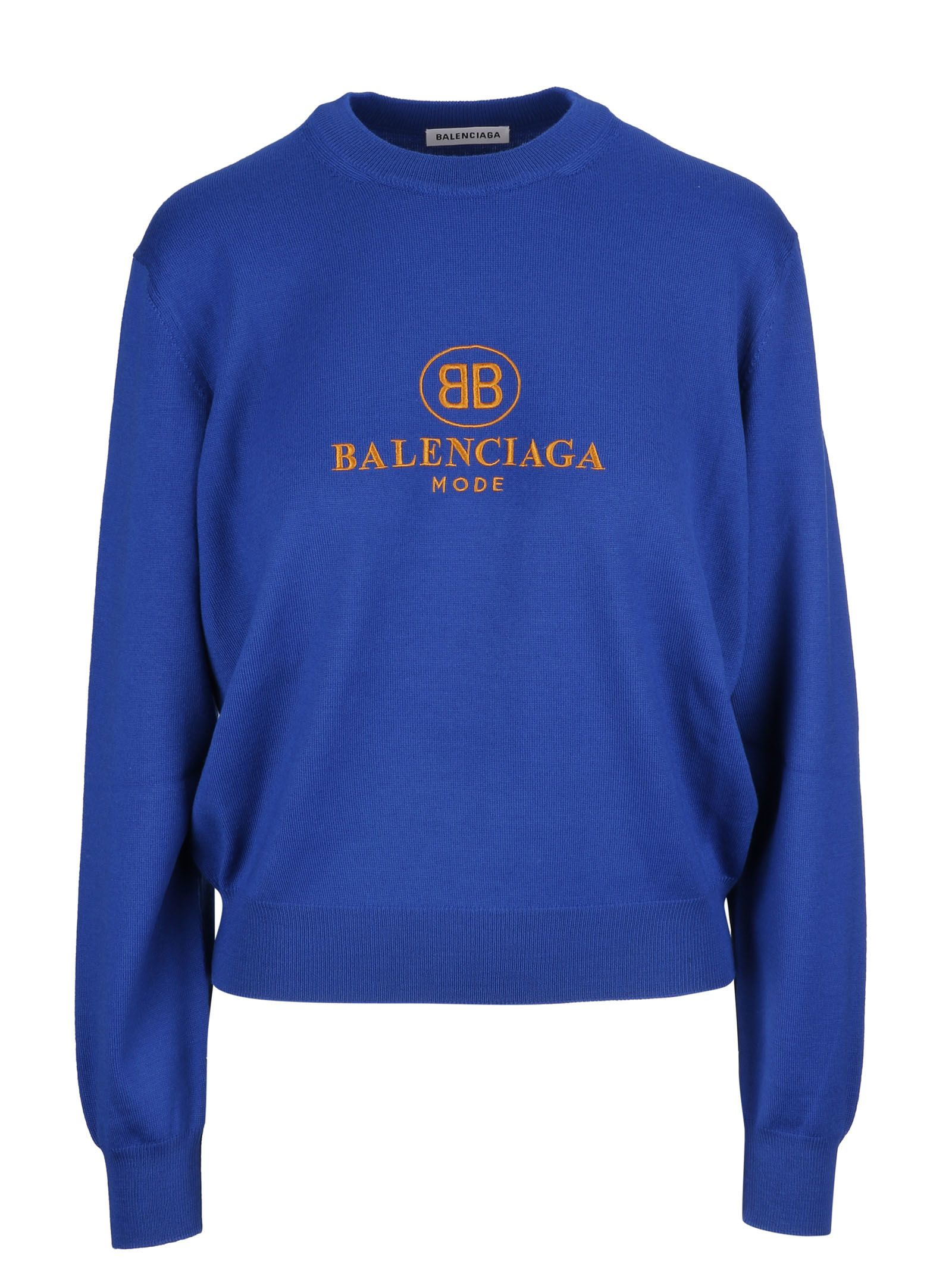 balenciaga -  Logo Embroidered Sweater