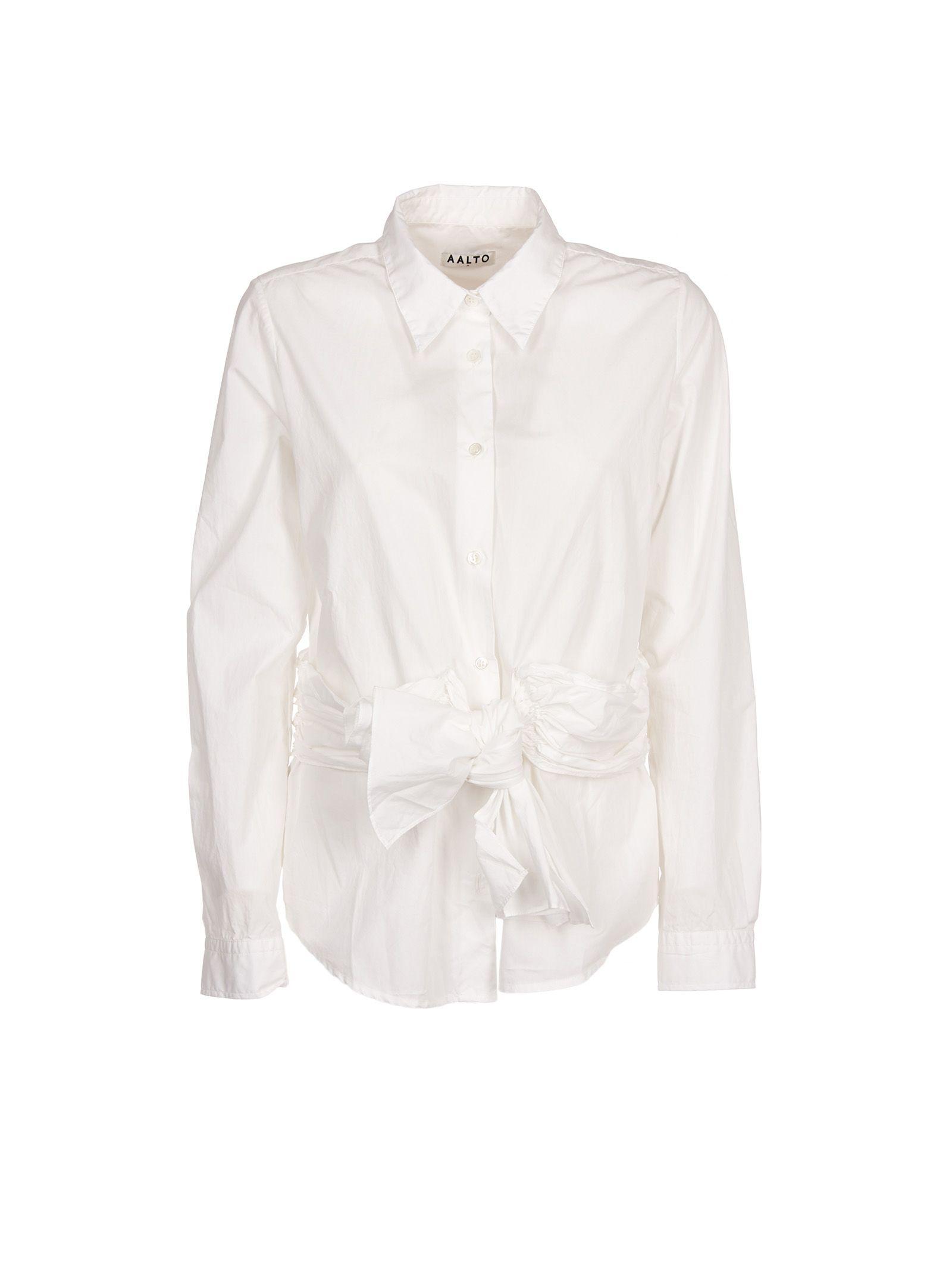 aalto female aalto draped formal top