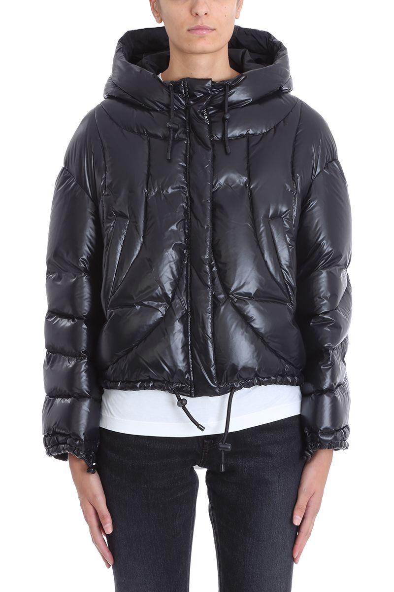 AHIRAIN Black Nylon Down Jacket