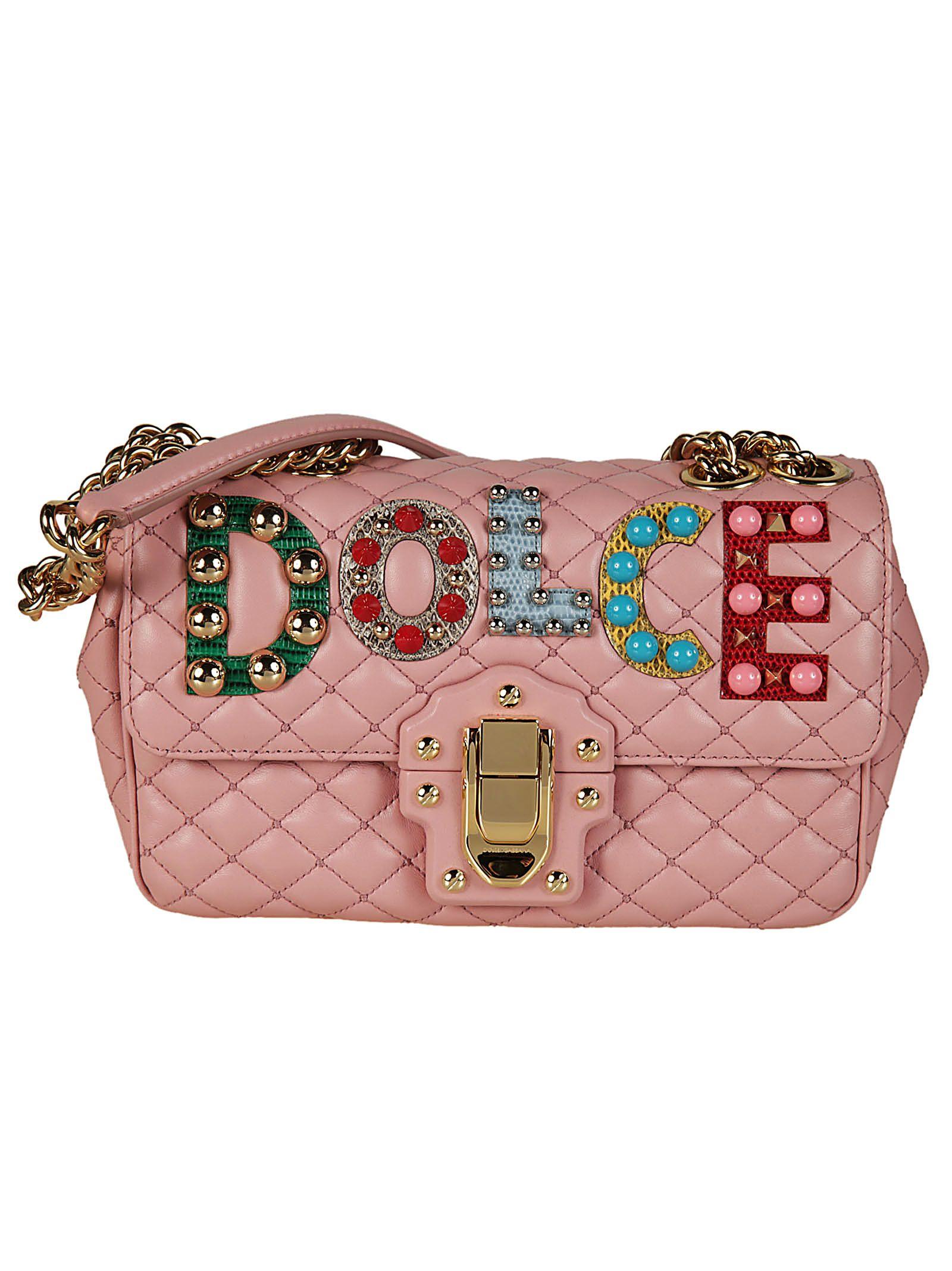 Dolce & Gabbana Lucia Sac À Bandoulière Matelassée - Rose Et Violet Choisir Une Meilleure Ligne 3y8VJsIuy