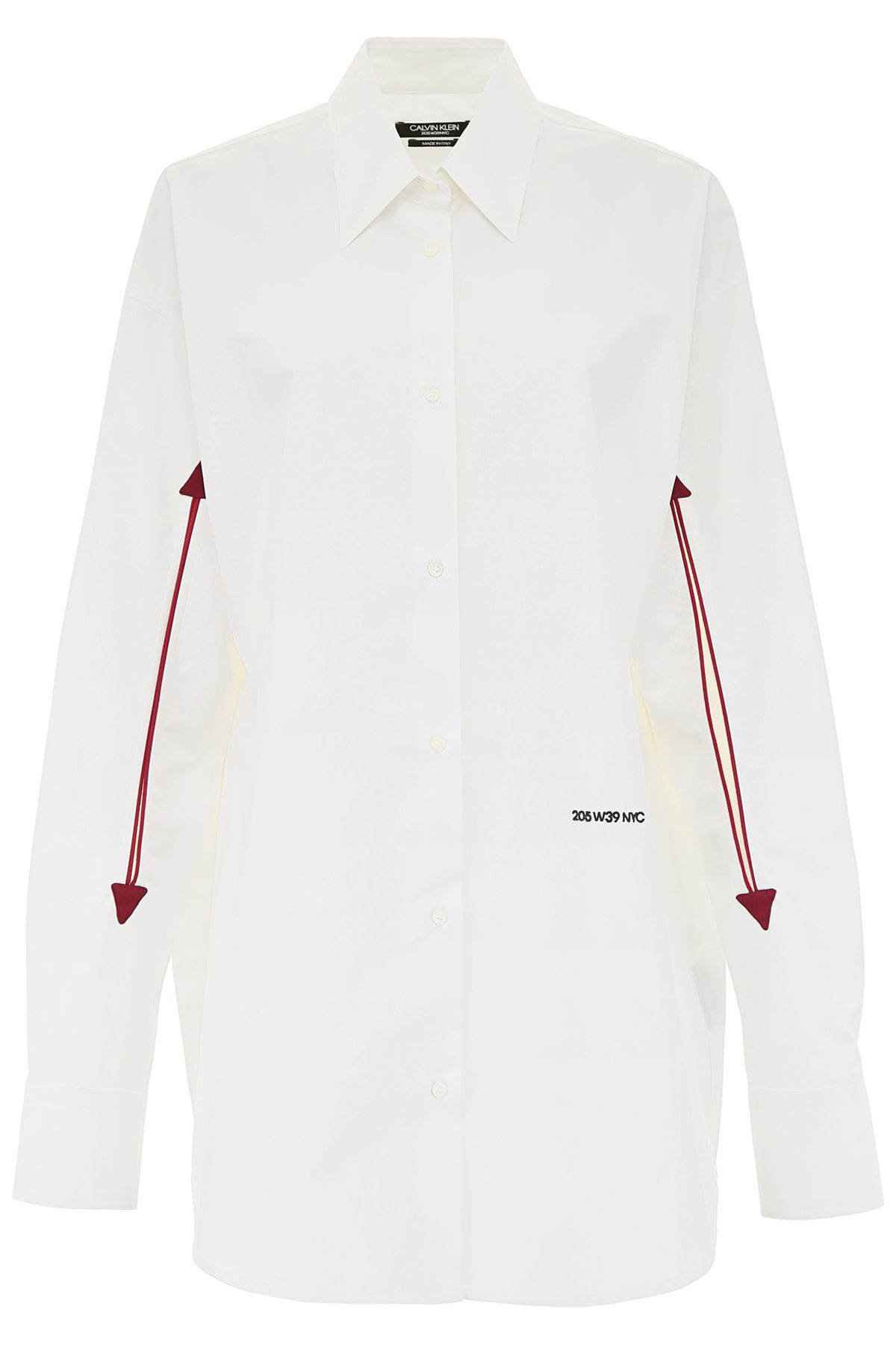 CALVIN KLEIN OVERSIZED SHIRT WITH HOLES