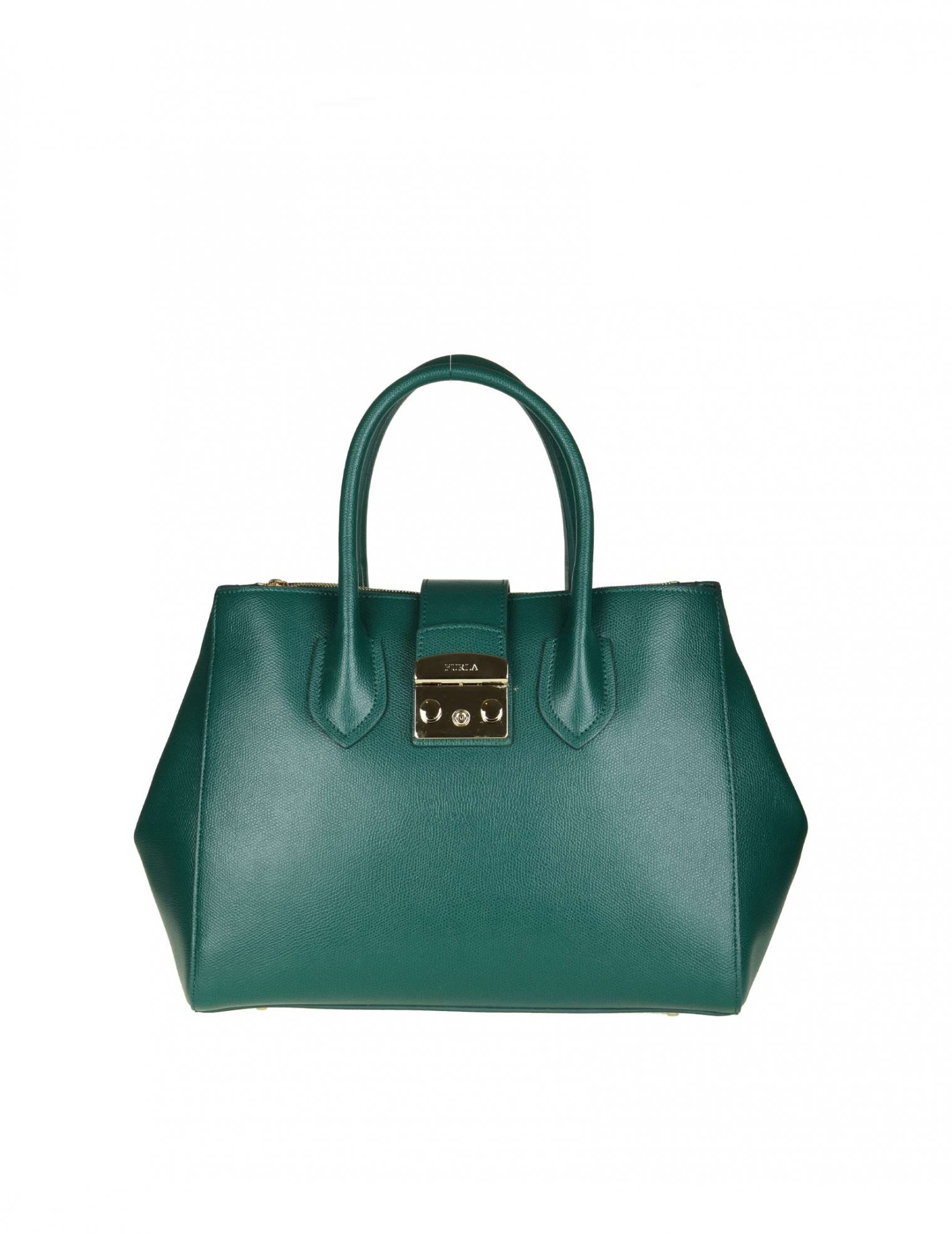 "Furla Leathers ""METROPOLIS M"" IN GREEN LEATHER"