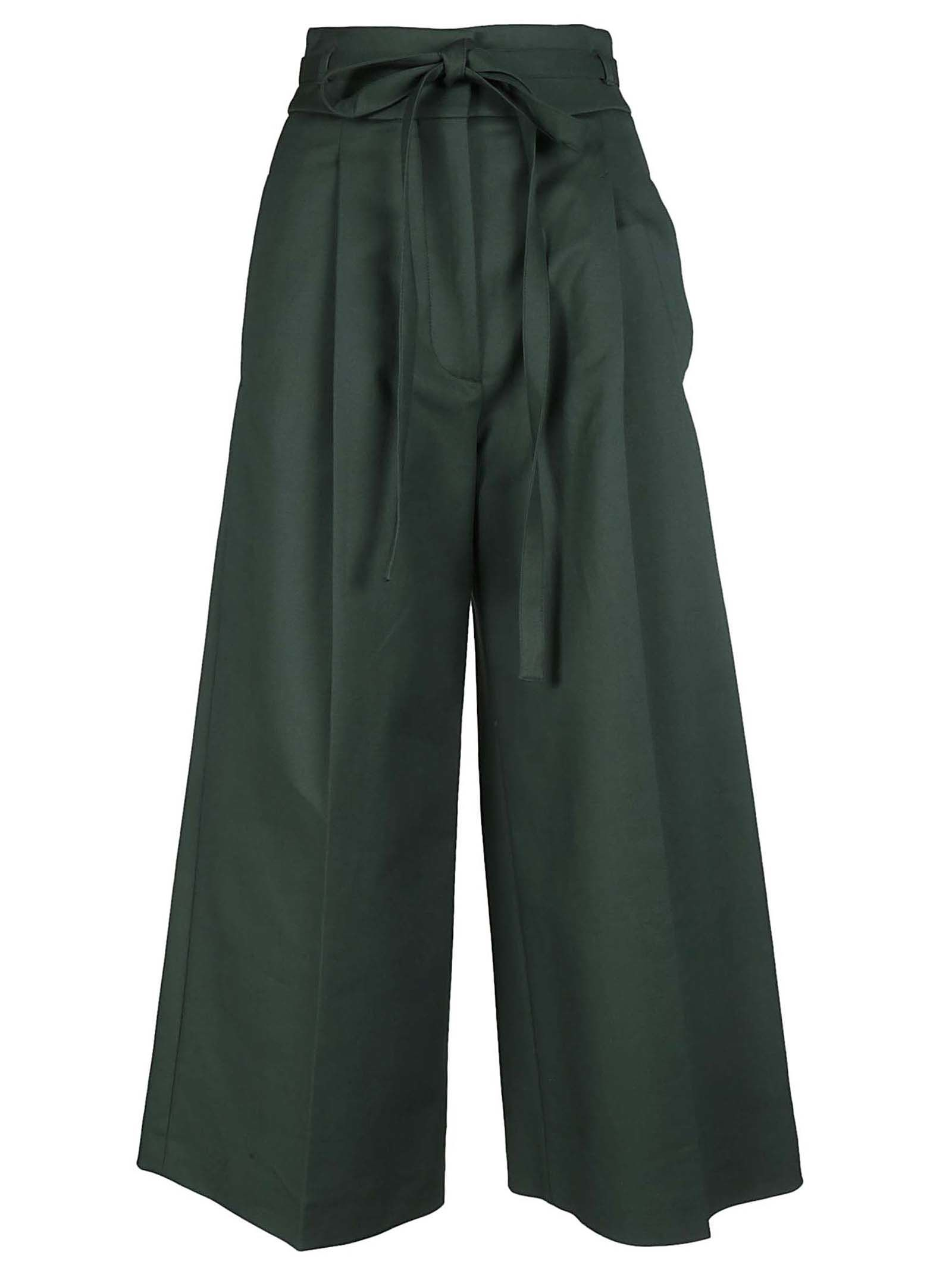 WIDE-LEG CROPPED TROUSERS from Italist.com