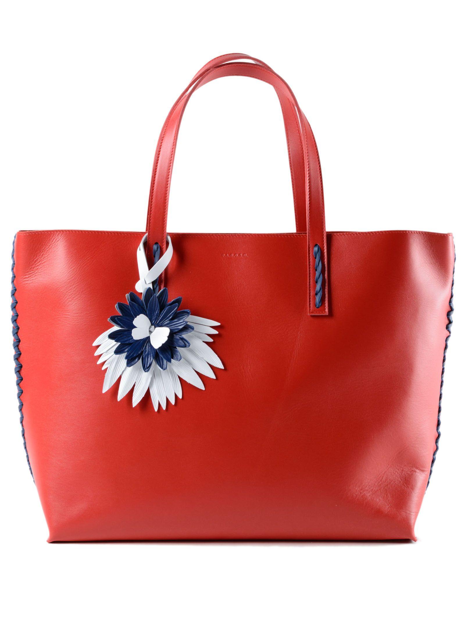 P.A.R.O.S.H. Tote Bag On Sale, Beige, Leather, 2017, one size
