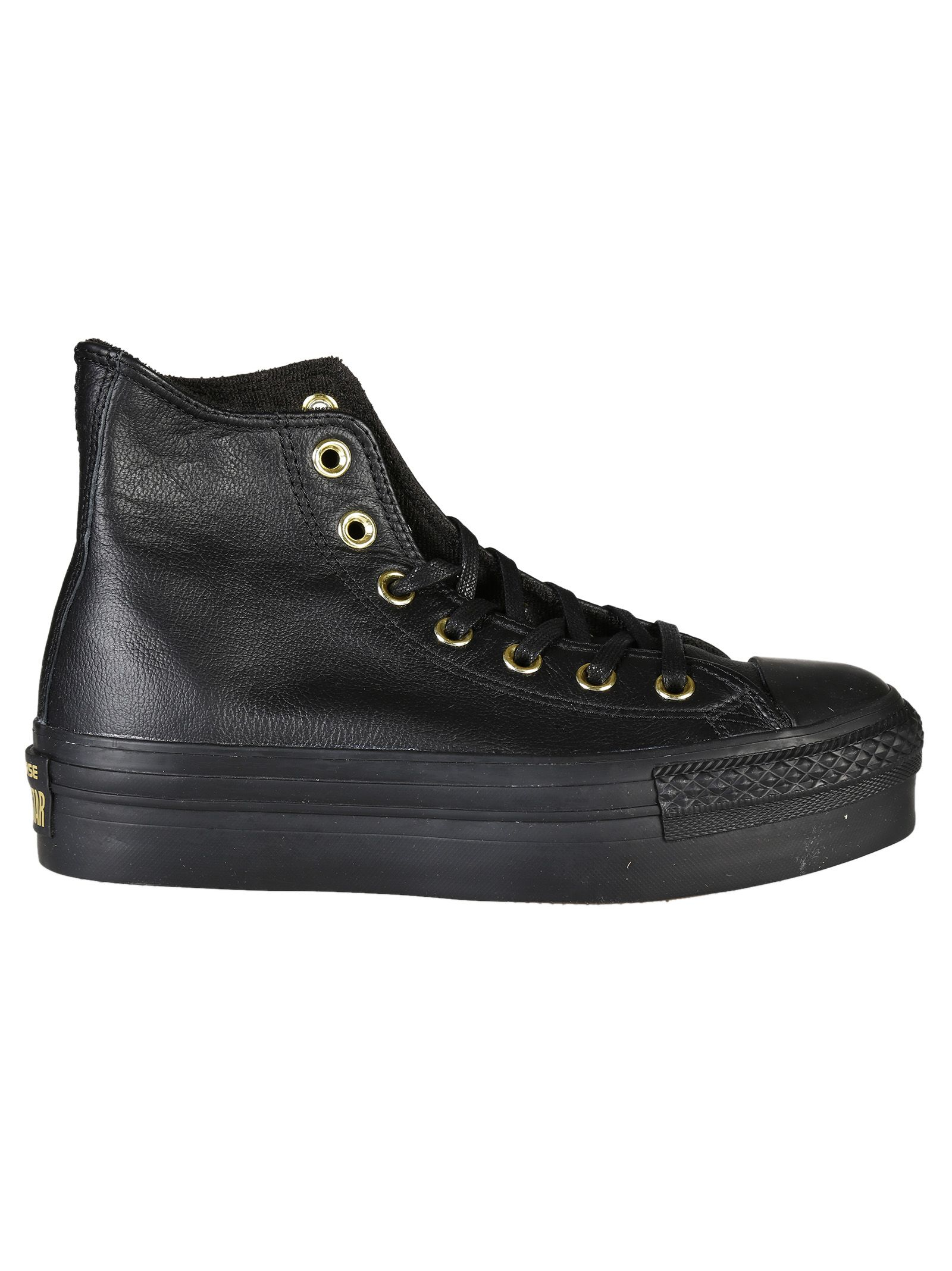 converse hi platform leather