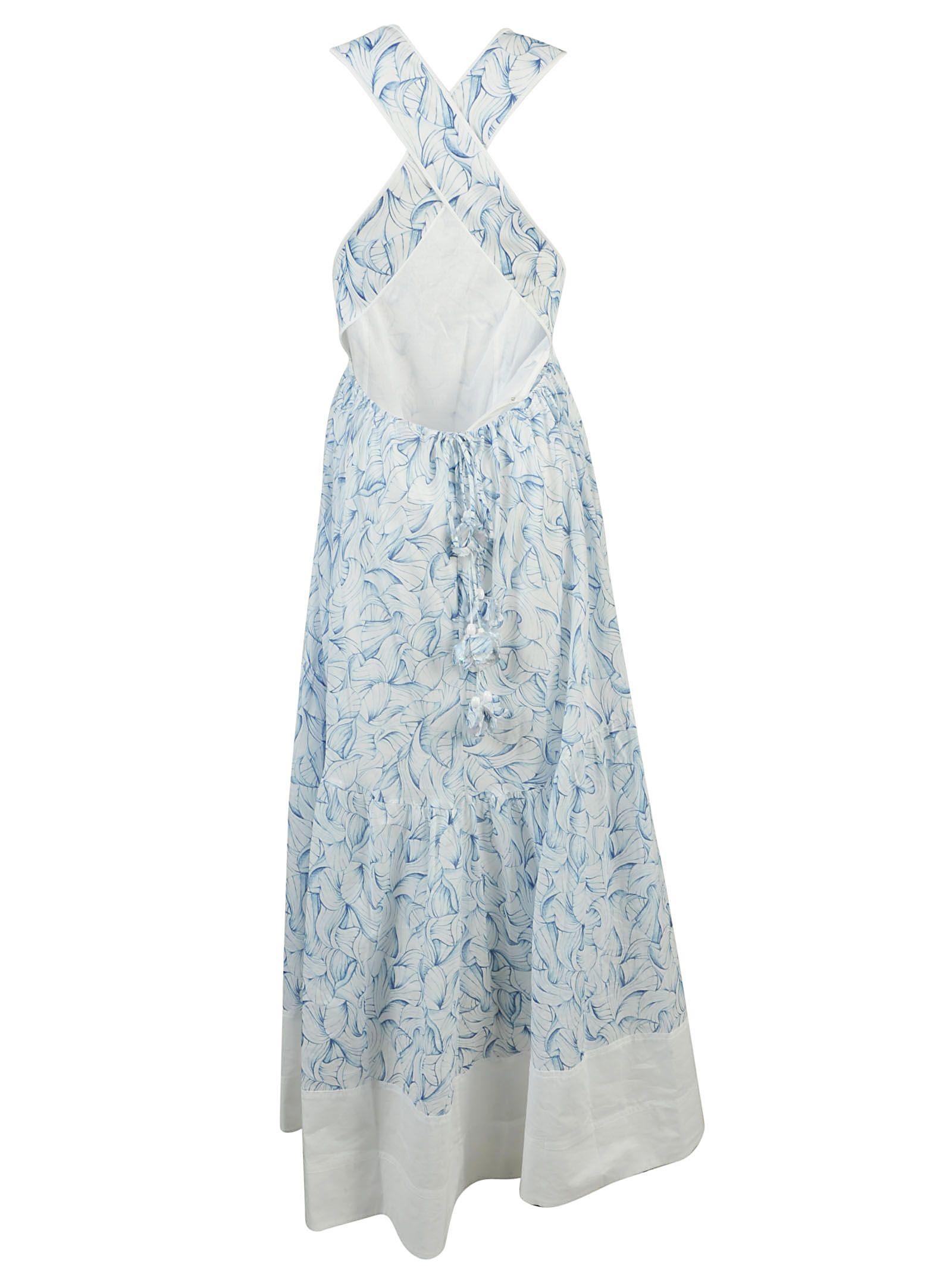 Tory Burch Tory Burch Blaire Dress White Women S Long Dresses