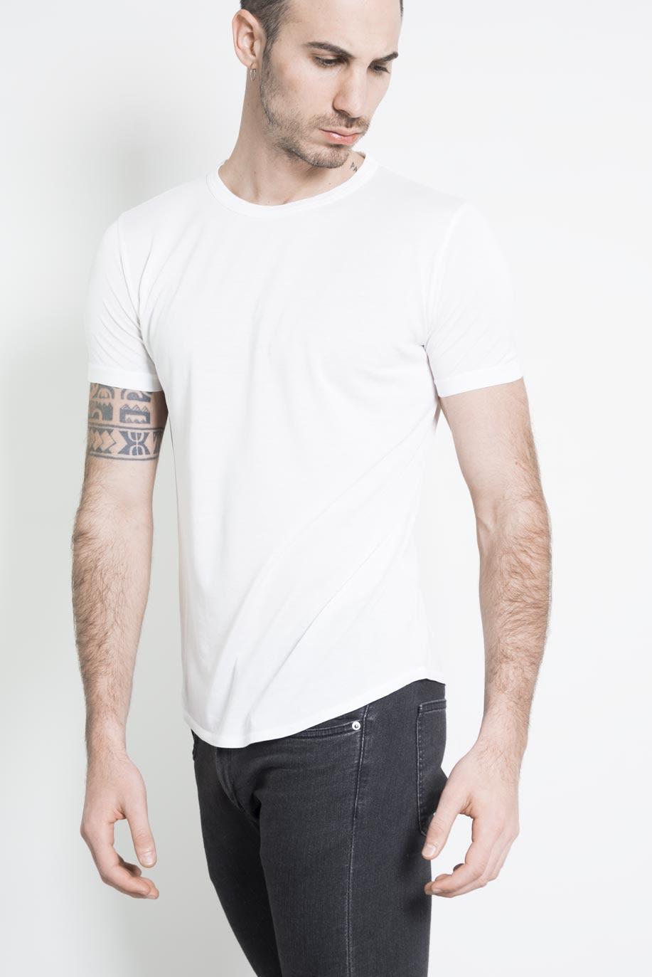 Altalana silk cotton extrafine comfort t shirt 10white for Cotton silk tee shirts