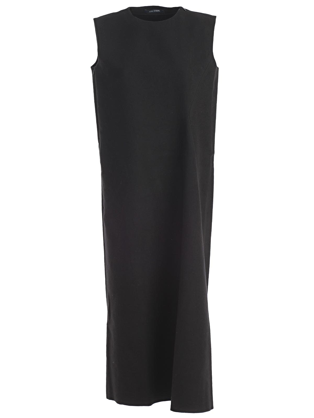 SOFIE D'HOORE Sofie D'Hoore Sleeveless Midi Dress in Black