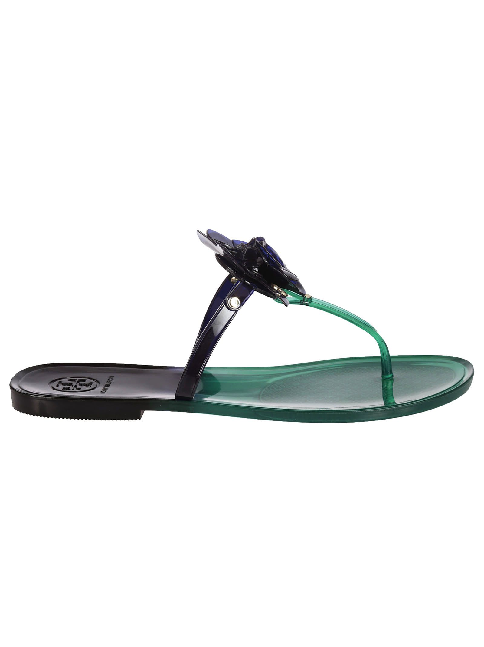 5d48001d6cda Tory Burch Jelly Blossom Sandals - Emerald - 6693396