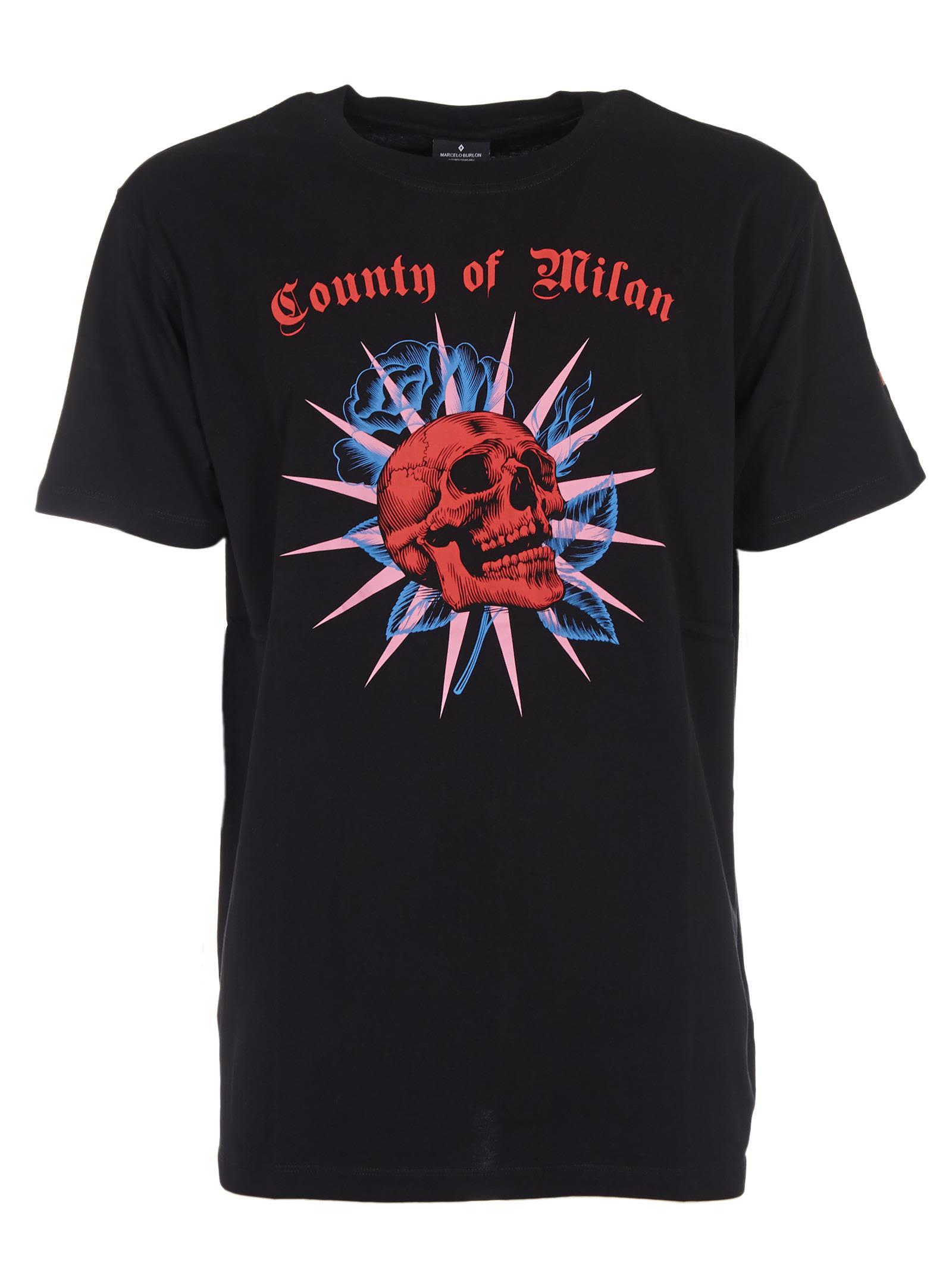 Marcelo Burlon County Of Milan Cottons SKULL T-SHIRT