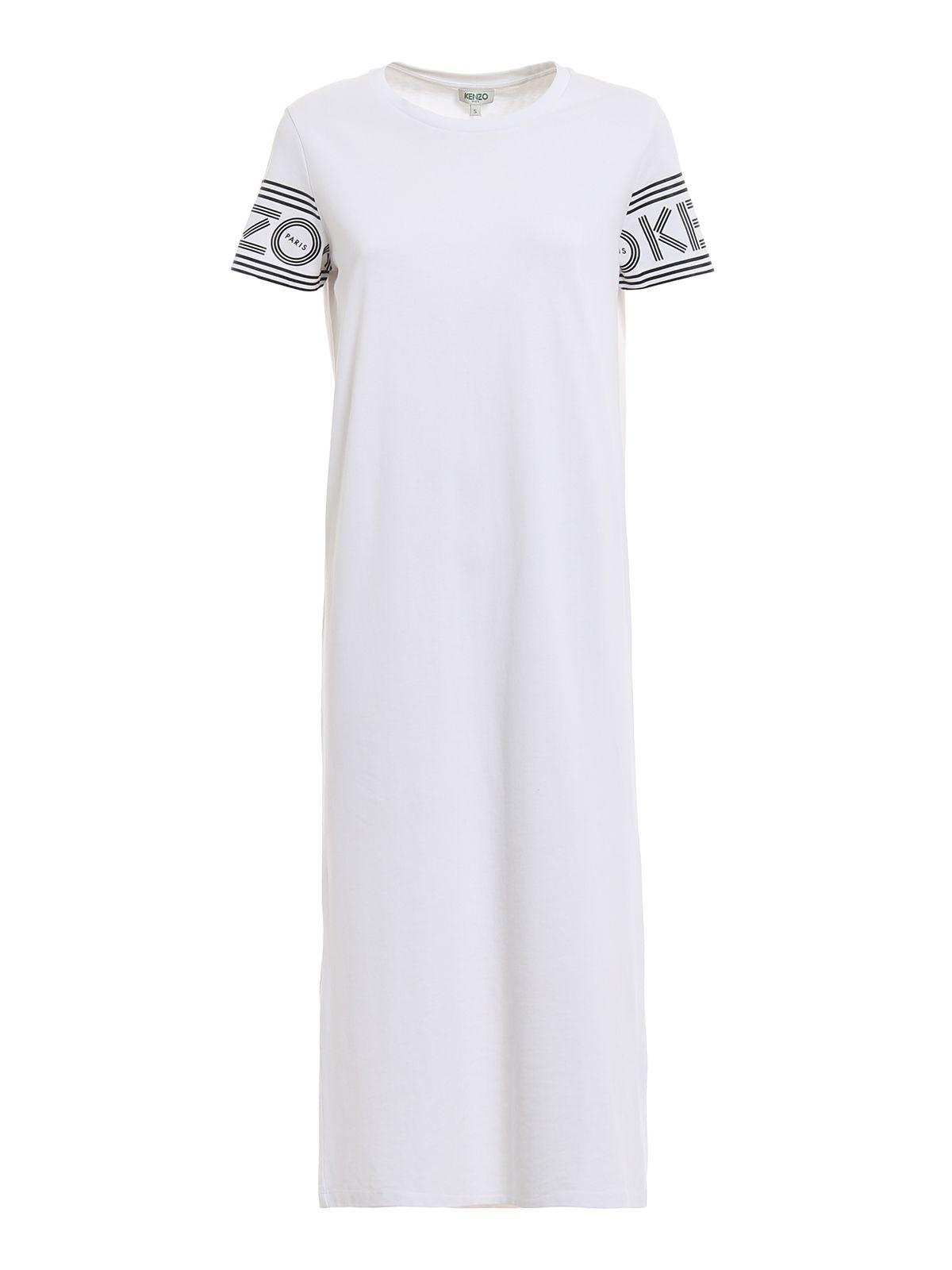 Midi Tshirt Dress, White