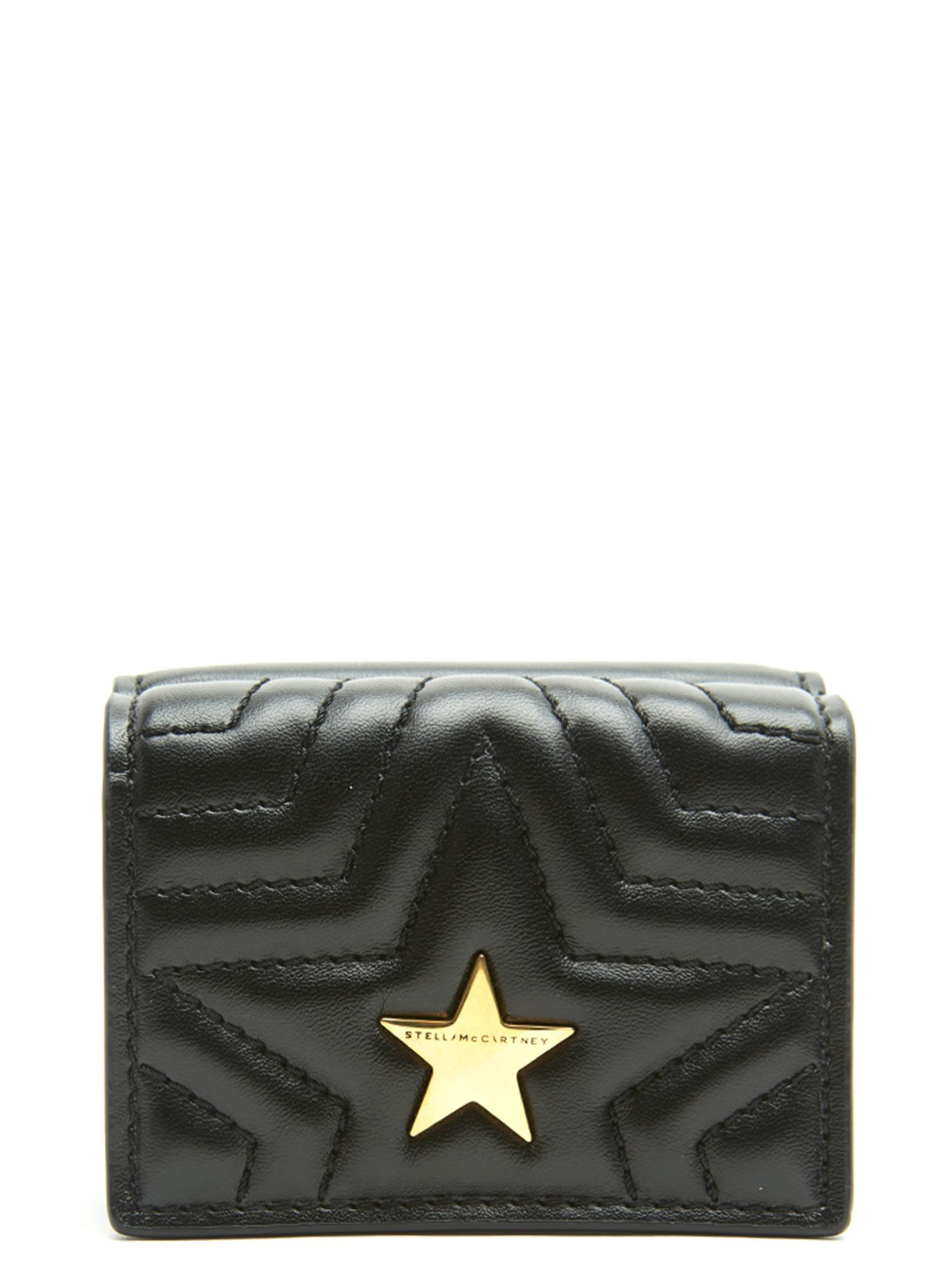 Stella Mccartney Stella Star Nappa Wallet in Black
