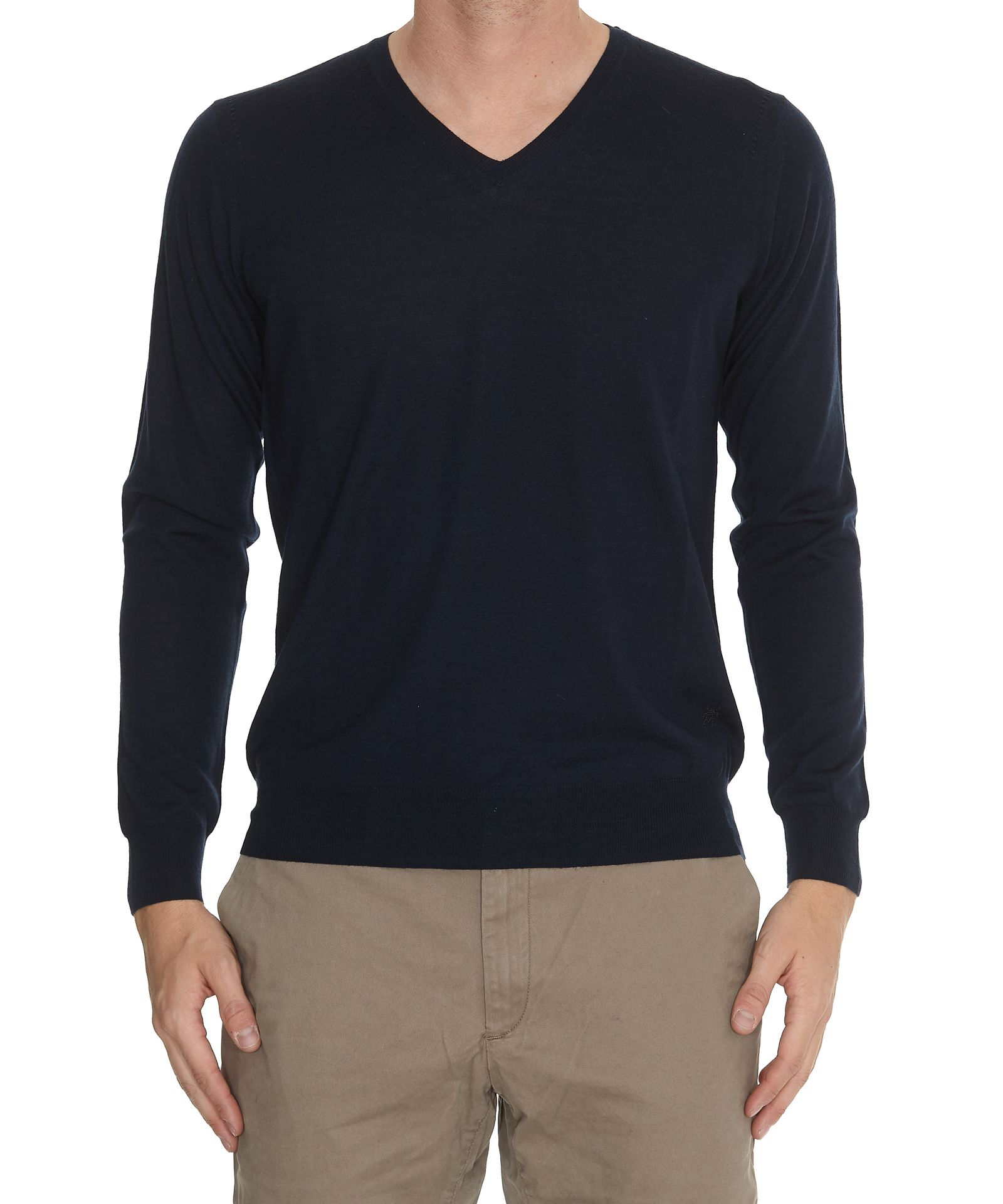 HŌSIO V Neck Sweater in Blue