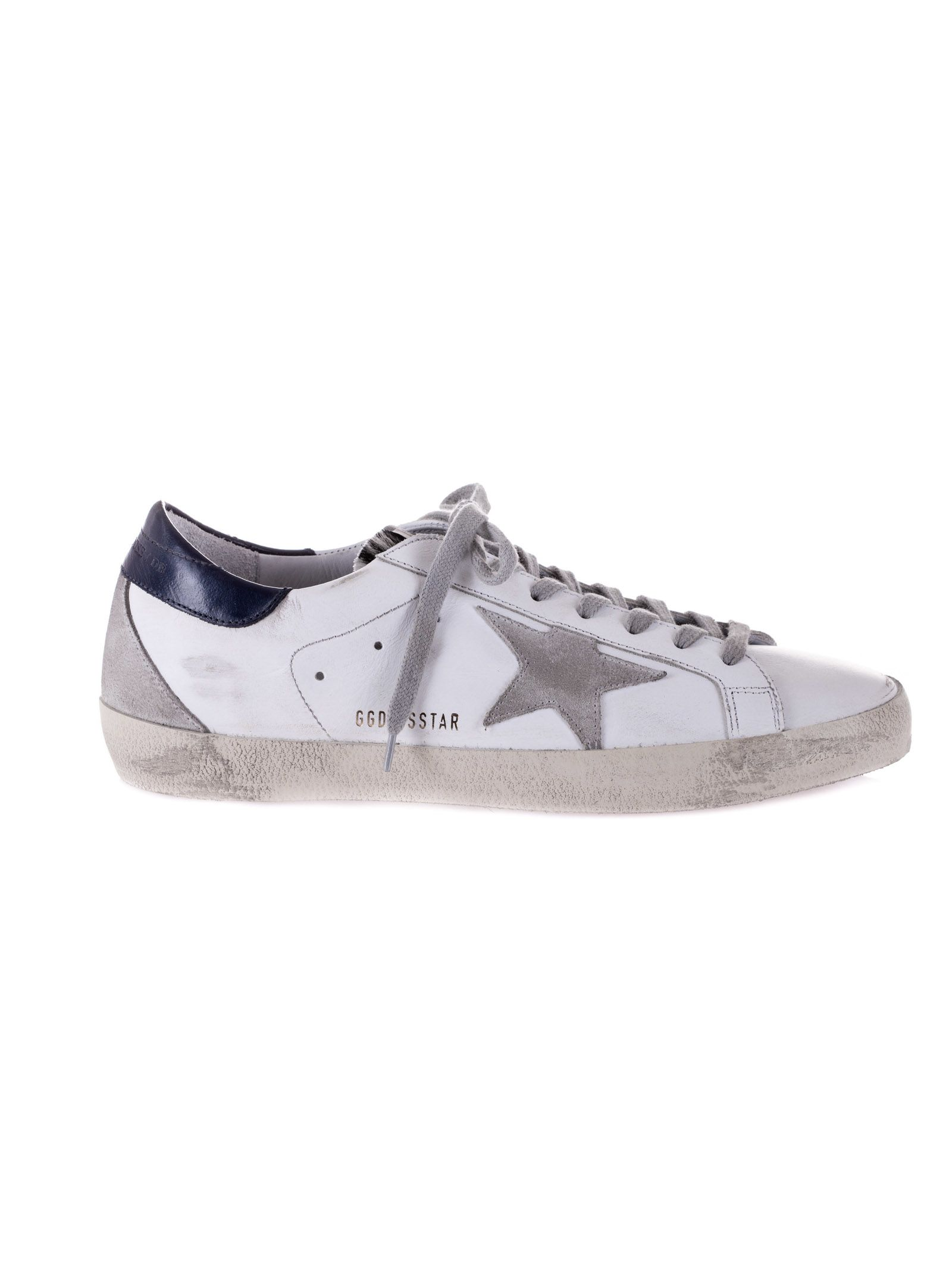 Golden Goose Superstar Sneakers - White/Blue ...
