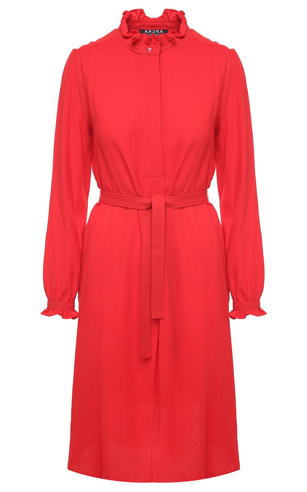 Astor Viscose And Wool-Blend Crepe Midi Dress, Rosso
