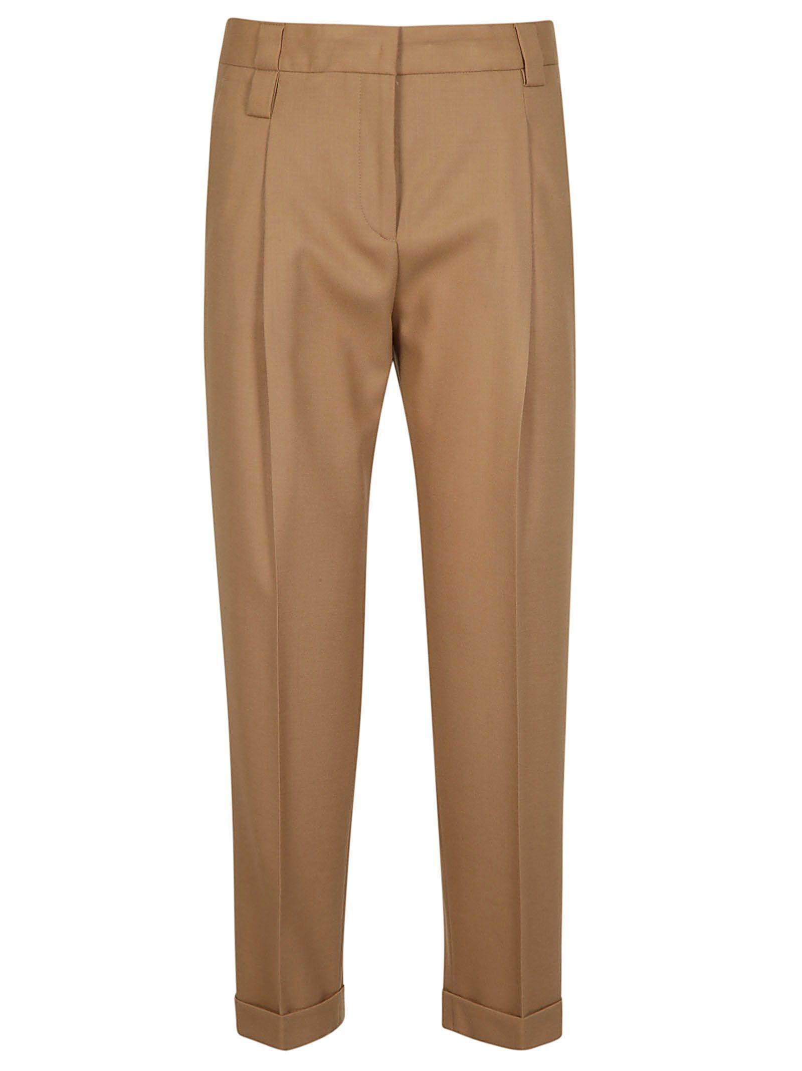 NEWYORKINDUSTRIE New York Industrie Straight Leg Trousers in Cammello