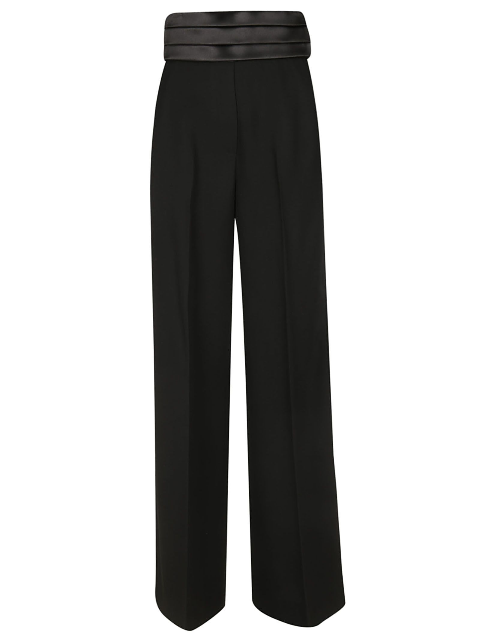 TARA JARMON High Waist Trousers in Noir