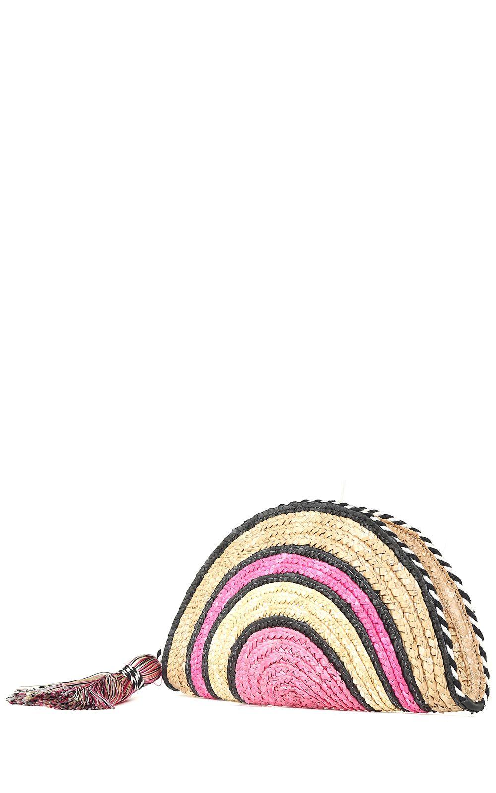 Straw Taco striped clutch Rebecca Minkoff ZXa3uK3JW