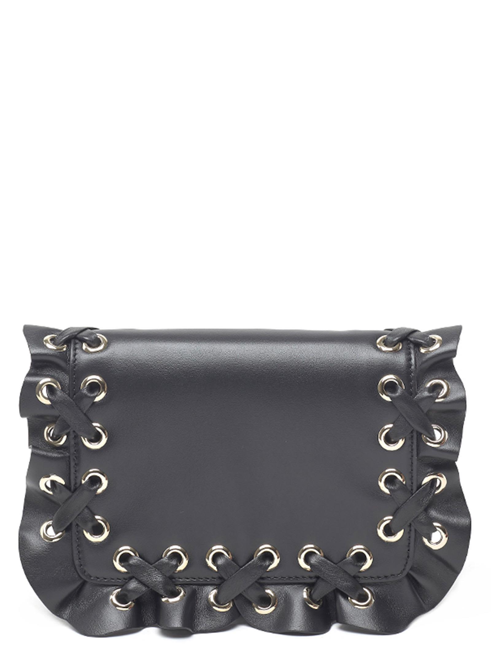 Red Valentino 'Rock Ruffle' Bag, Black