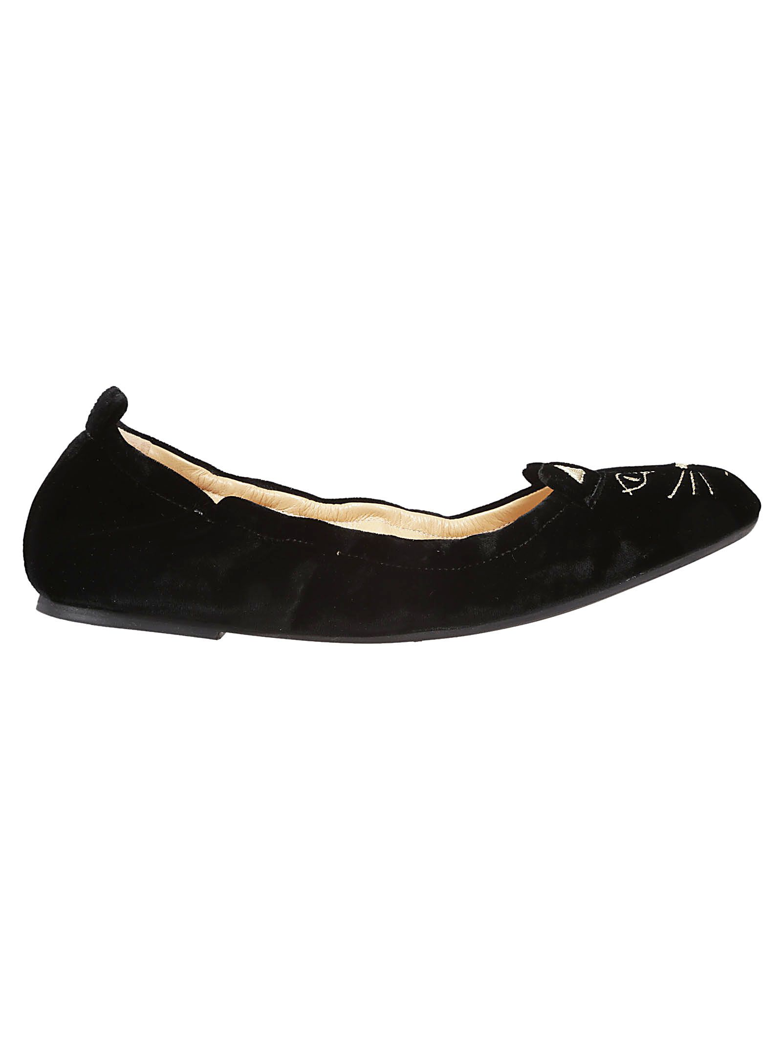 Buy Cheap Pick A Best Buy Cheap Supply Charlotte Olympia Kitten Embroidered Ballerinas Fashion Style Online 8KIImbrs