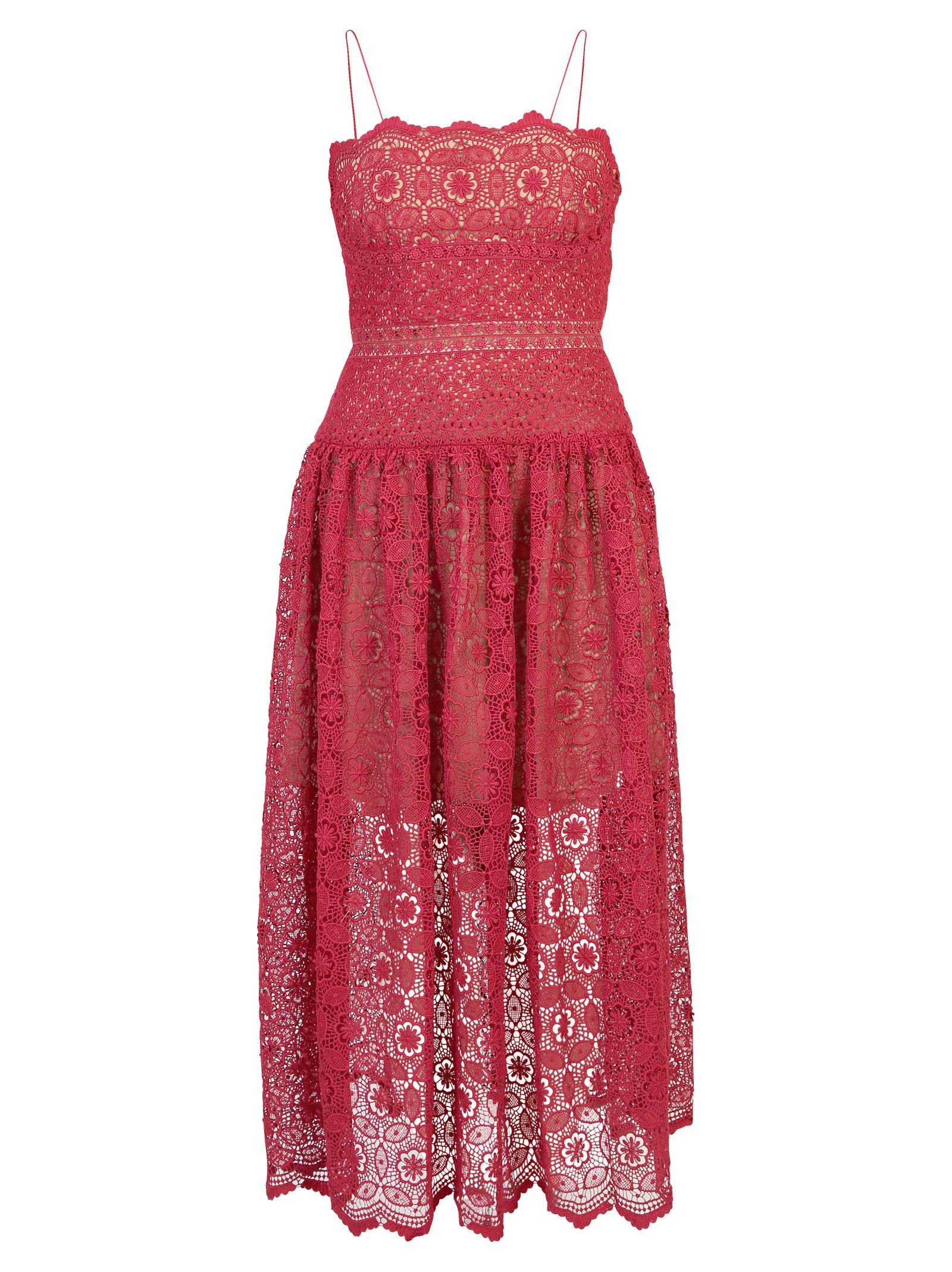 BORDEAUX LACE DRESS